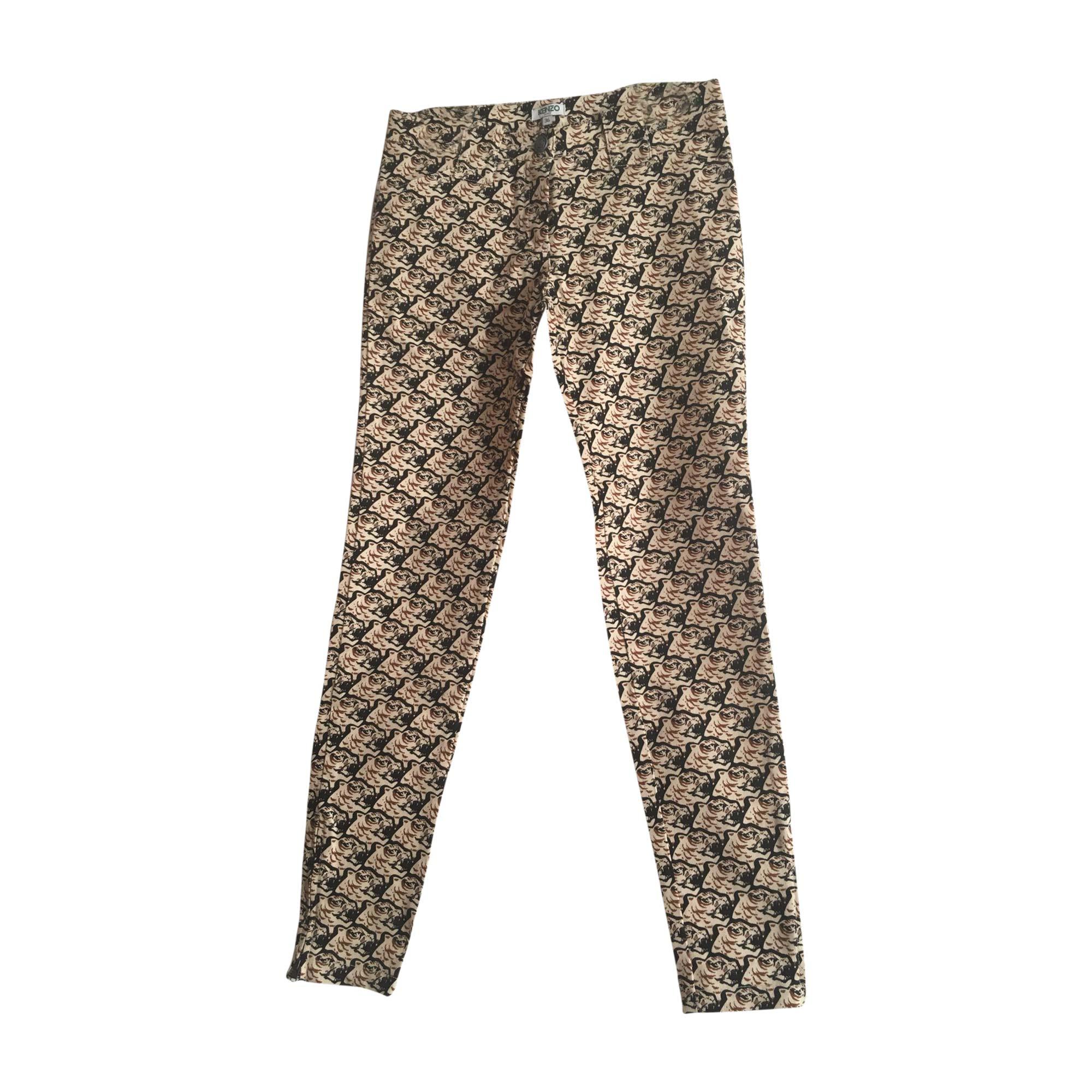 Pantalon droit KENZO Imprimés animaliers