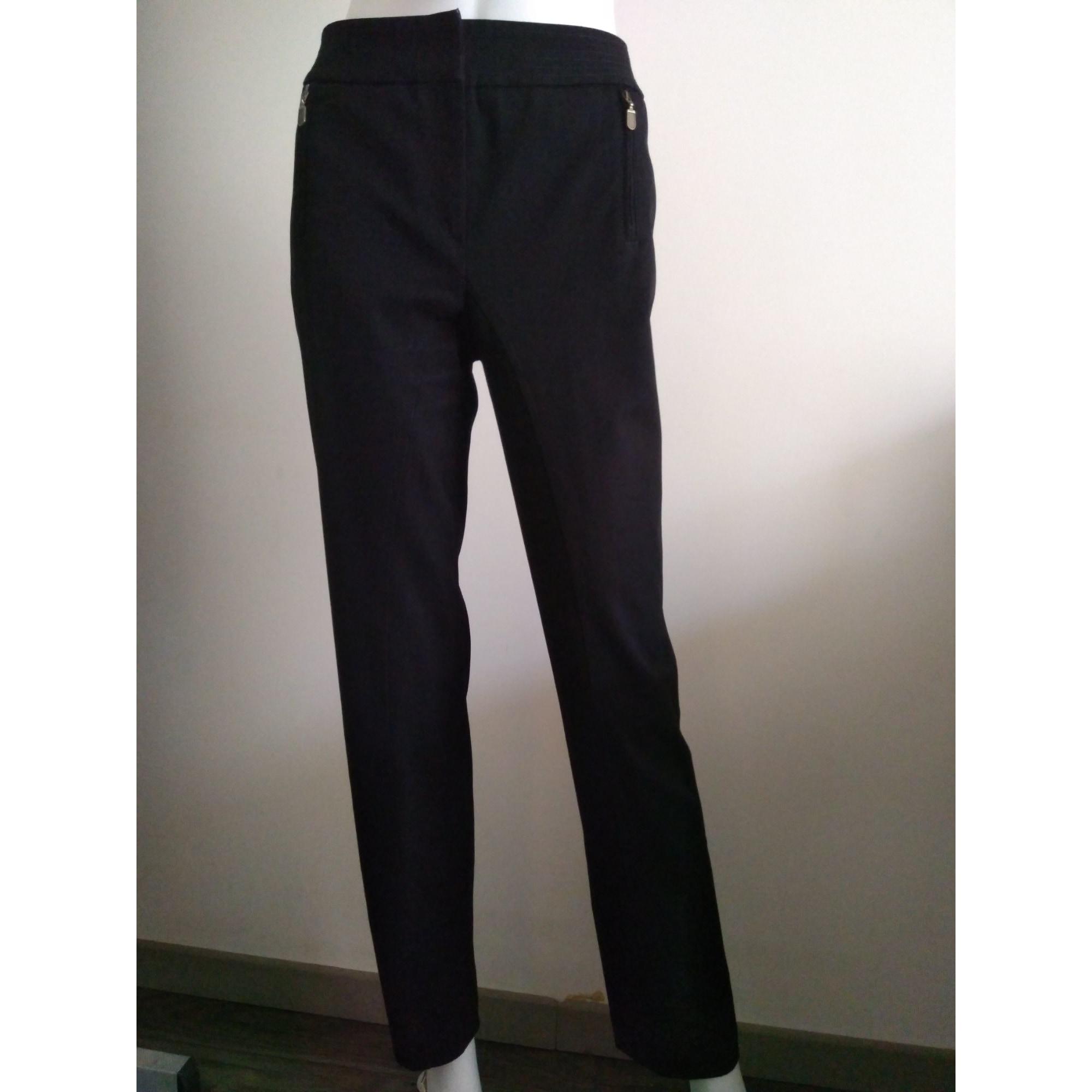 Pantalon droit ALAIN MANOUKIAN Noir