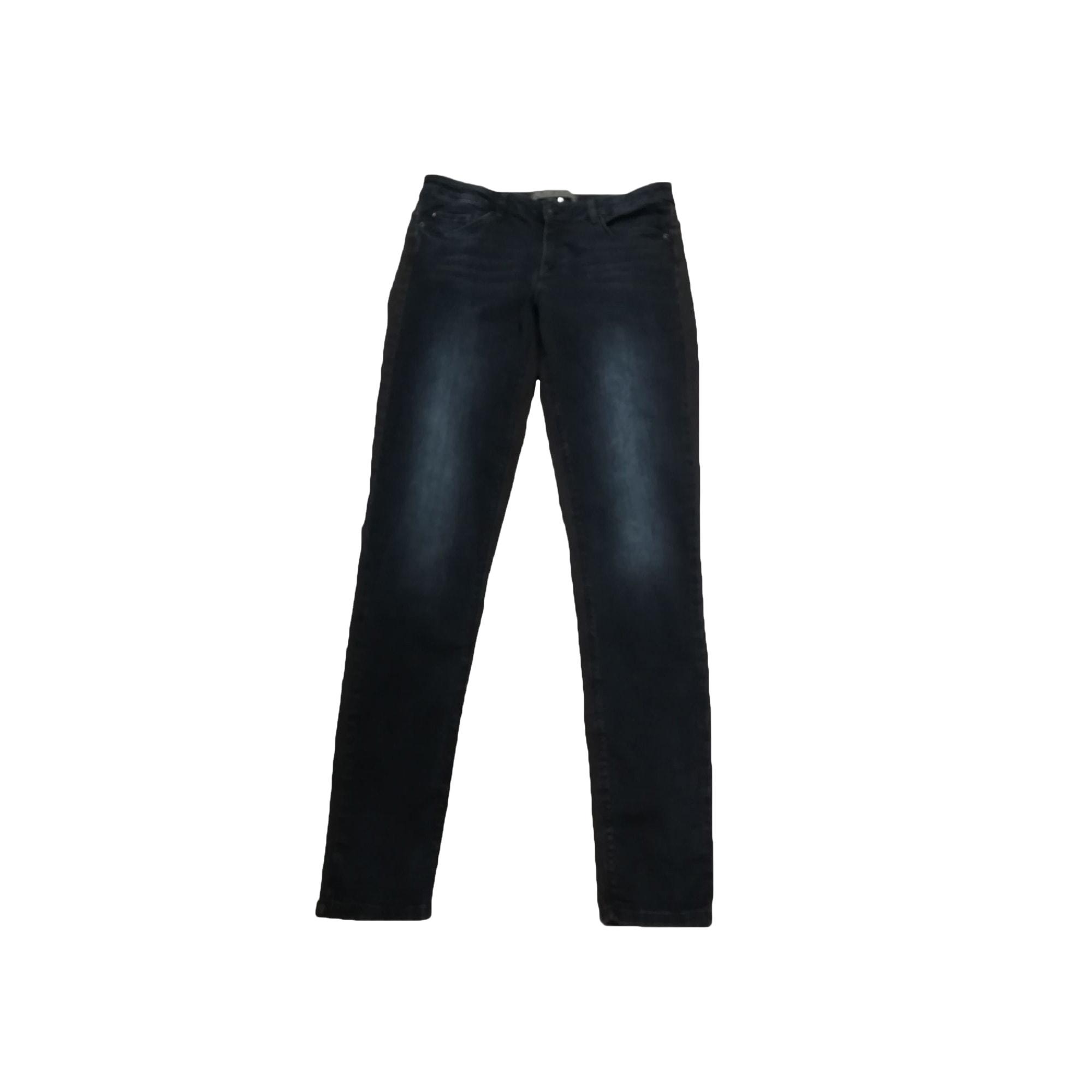 Jeans slim IKKS Bleu, bleu marine, bleu turquoise