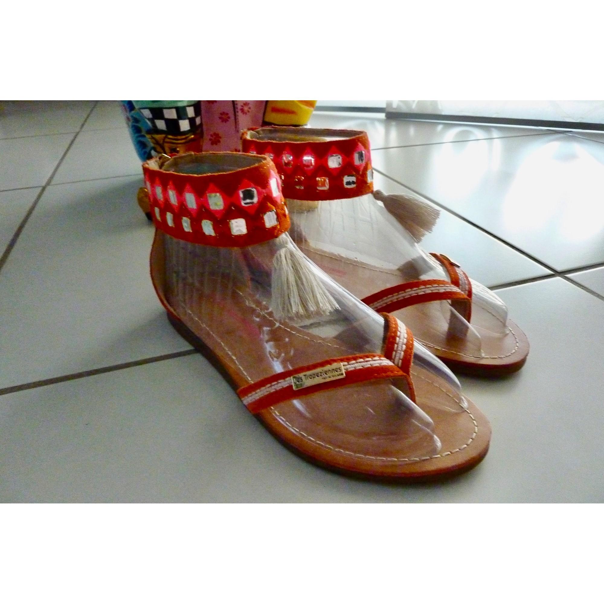 Sandales plates  LES TROPÉZIENNES PAR M. BELARBI Orange