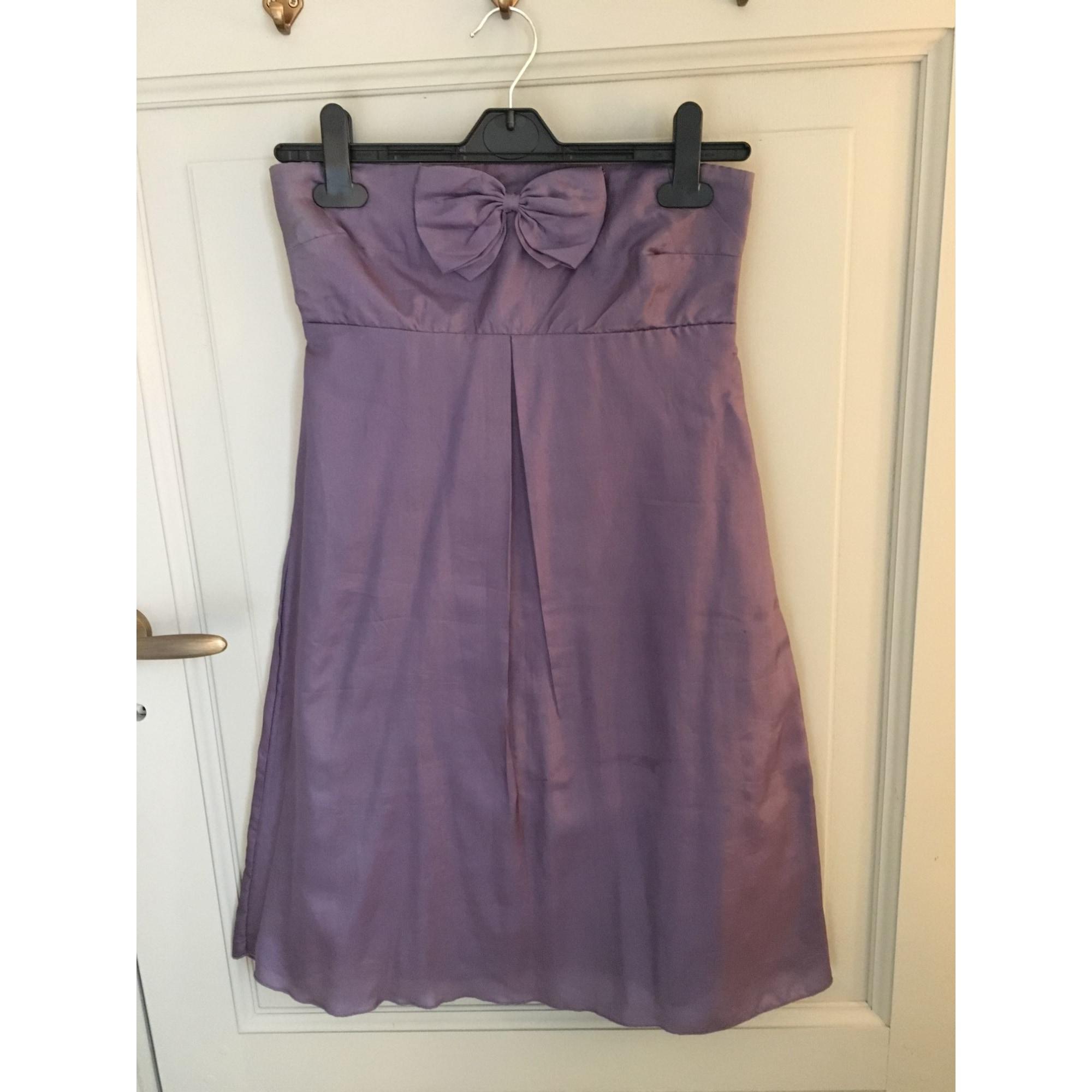 Robe bustier NAF NAF Violet, mauve, lavande