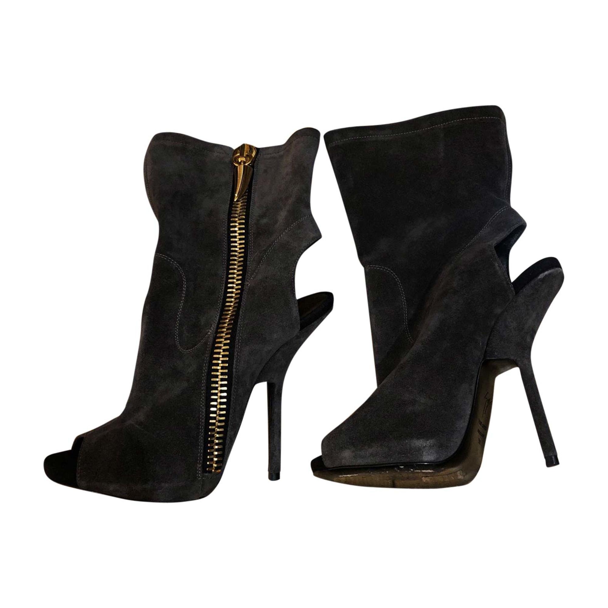 Bottines & low boots à talons GIUSEPPE ZANOTTI Gris, anthracite