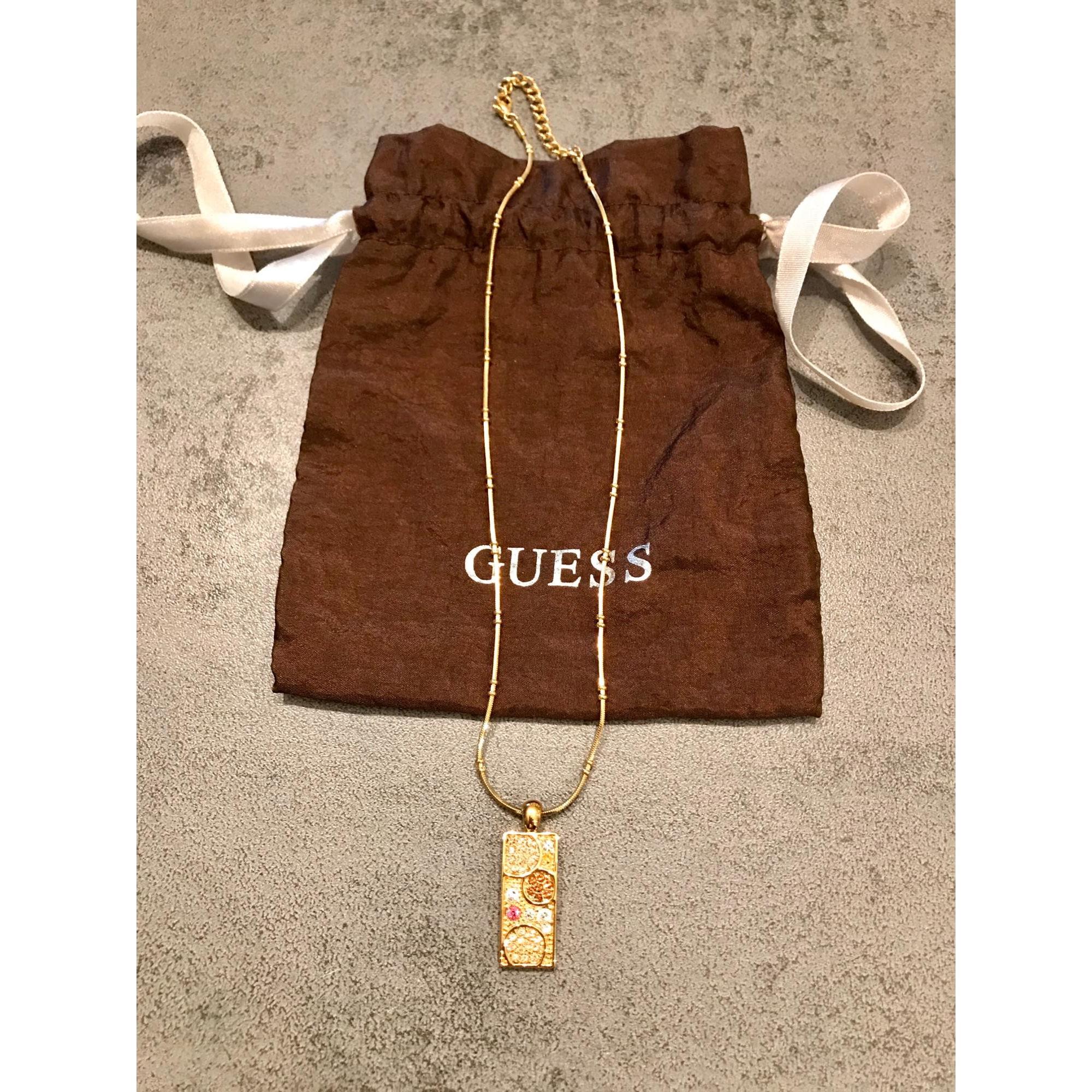 Pendentif, collier pendentif GUESS Doré, bronze, cuivre