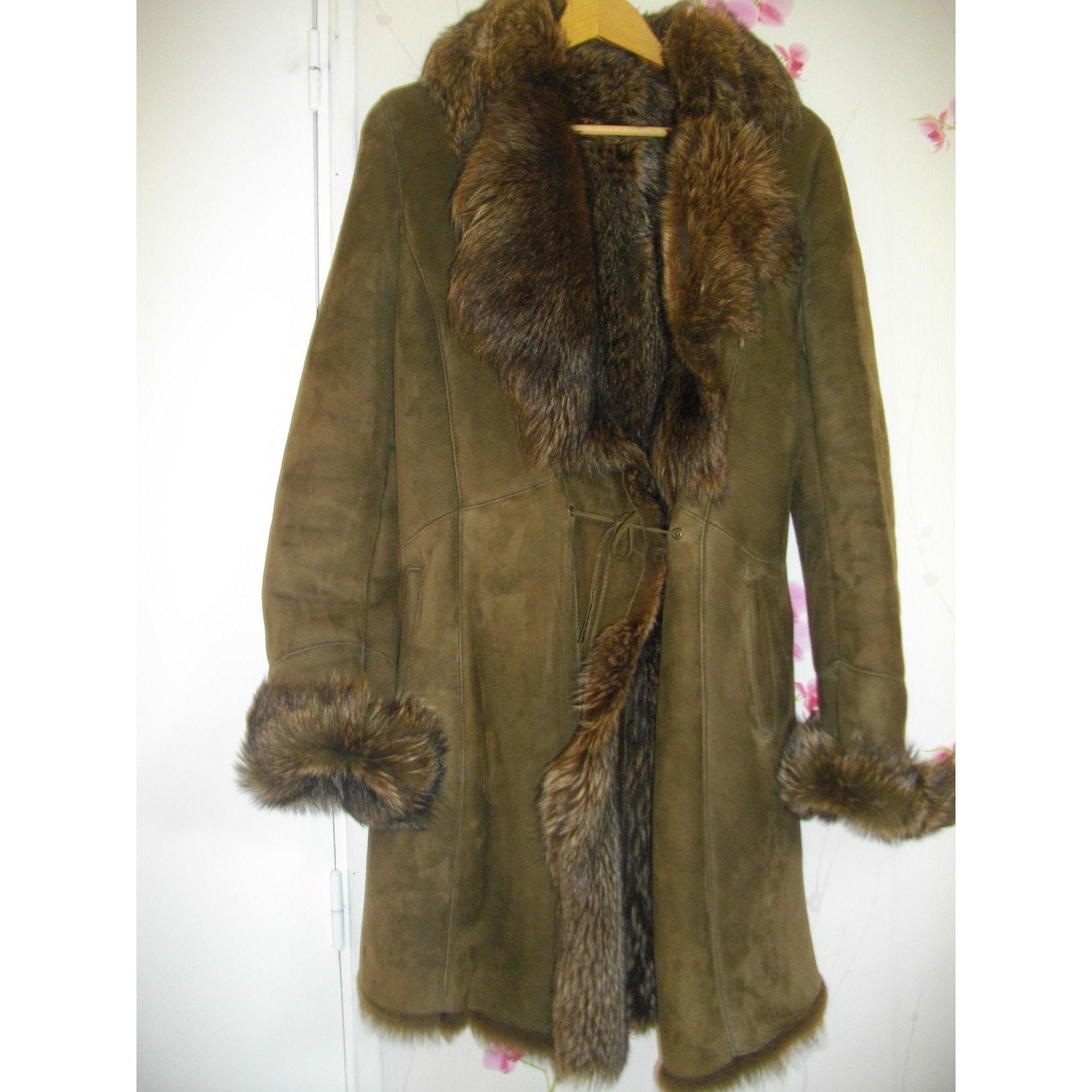 Fur Coat MORIZOT Khaki