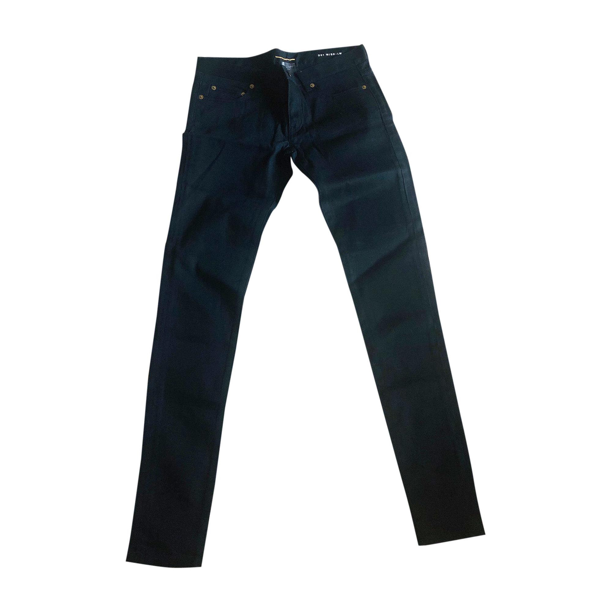 Pantalon slim, cigarette SAINT LAURENT Noir