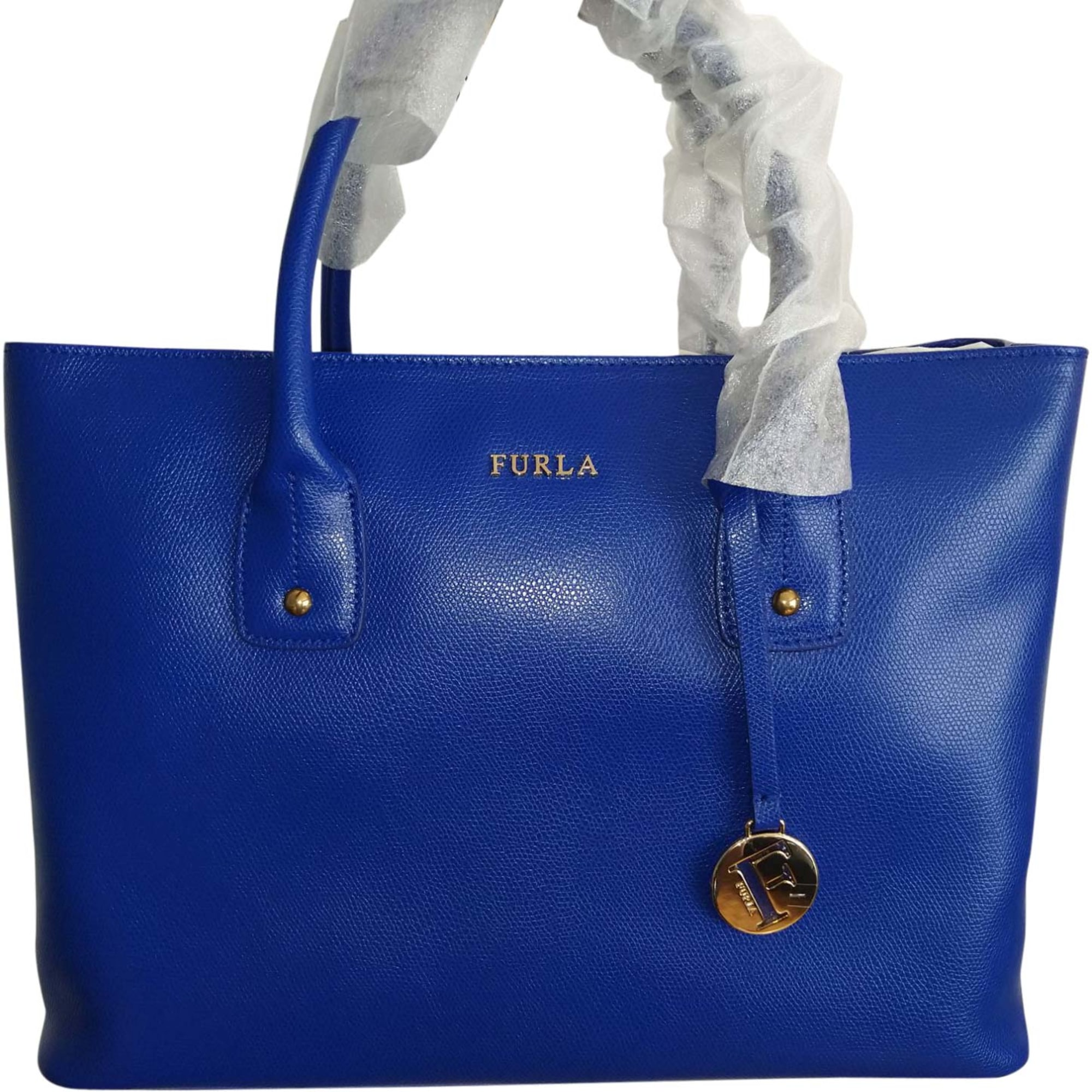 Sac à main en cuir FURLA Bleu, bleu marine, bleu turquoise