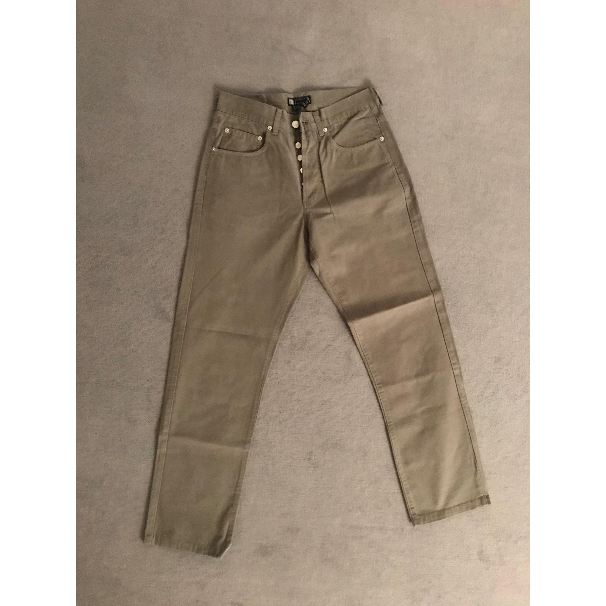 Jeans droit ZARA Kaki