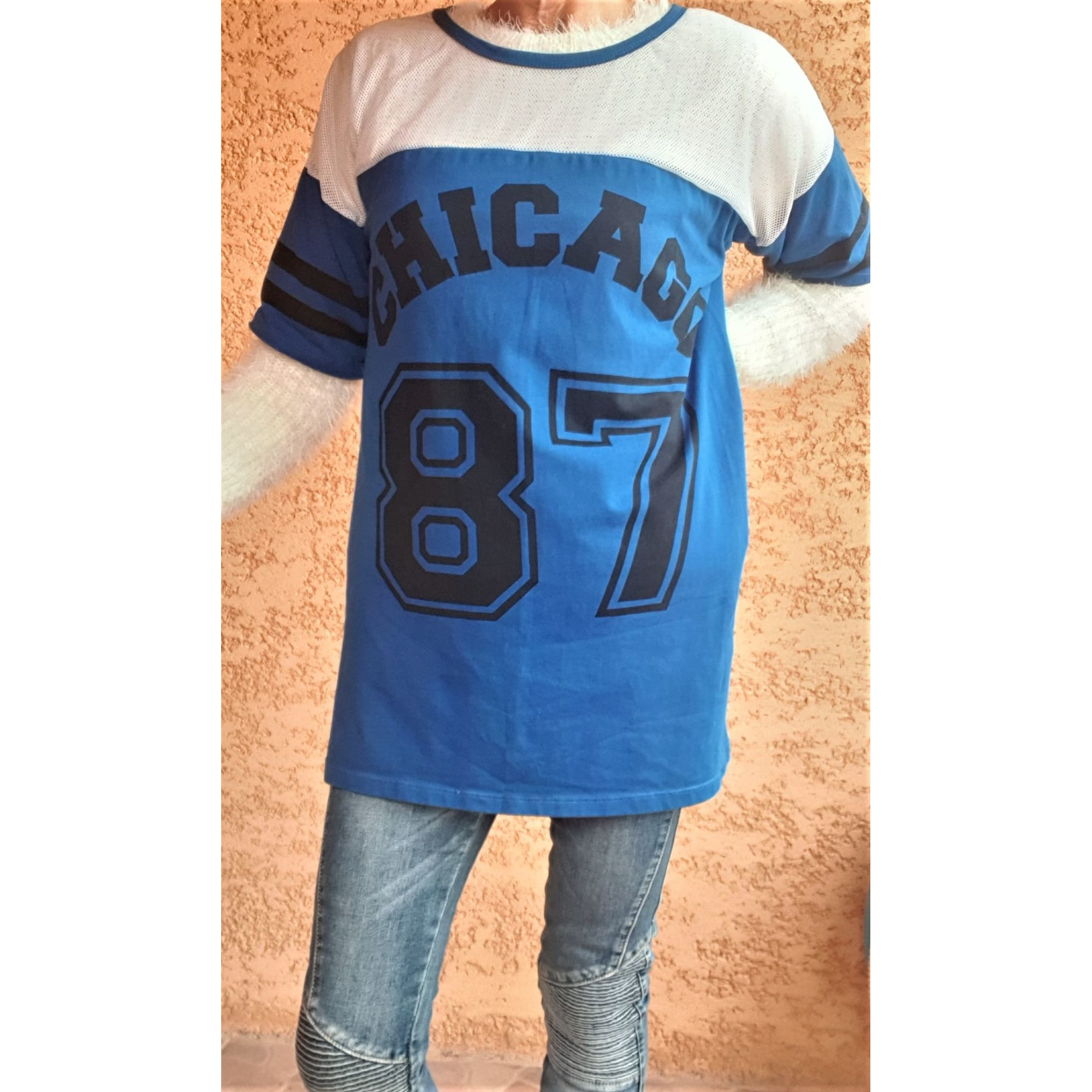 Top, tee-shirt BISOU'S PROJECT Bleu, bleu marine, bleu turquoise