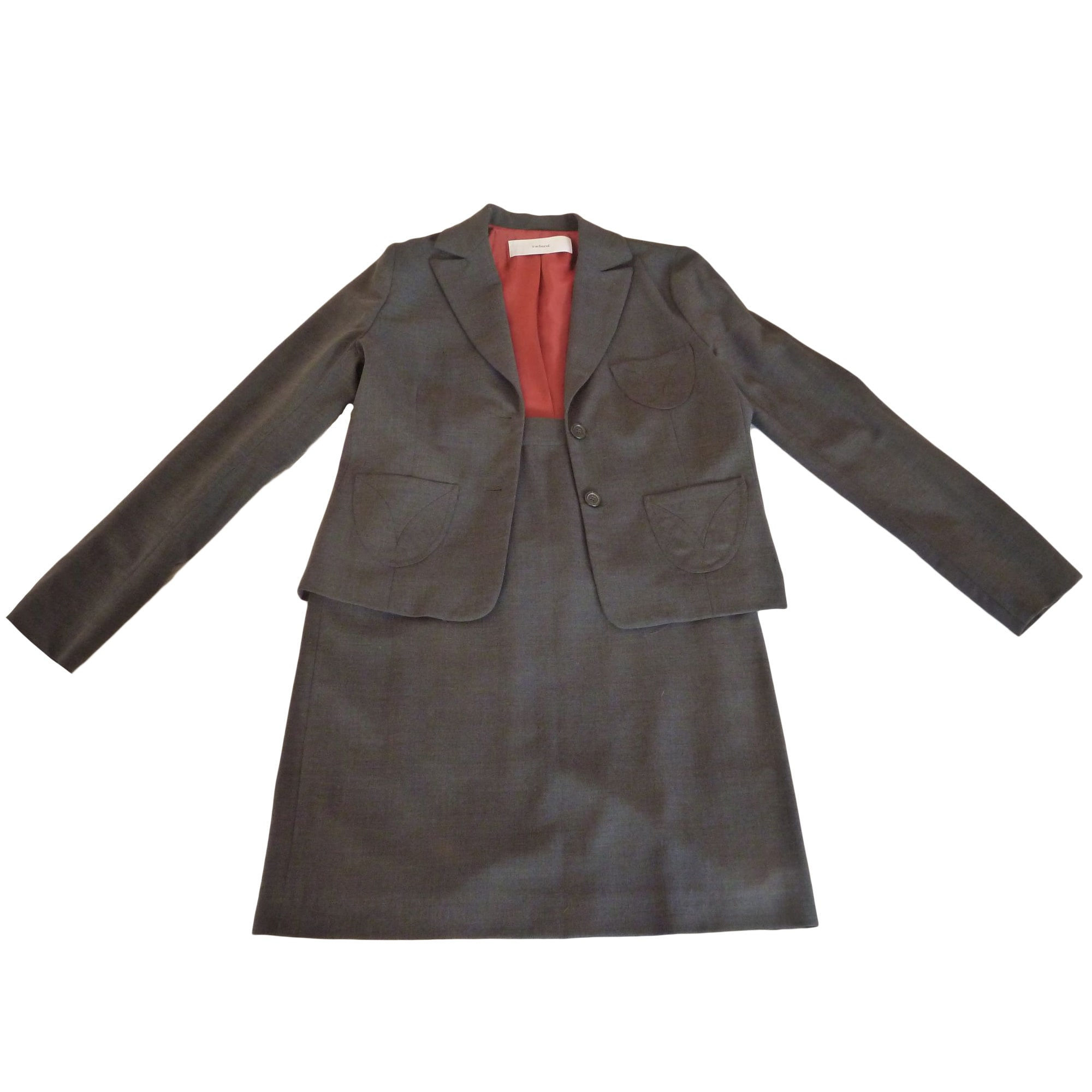 Tailleur jupe CACHAREL Gris, anthracite
