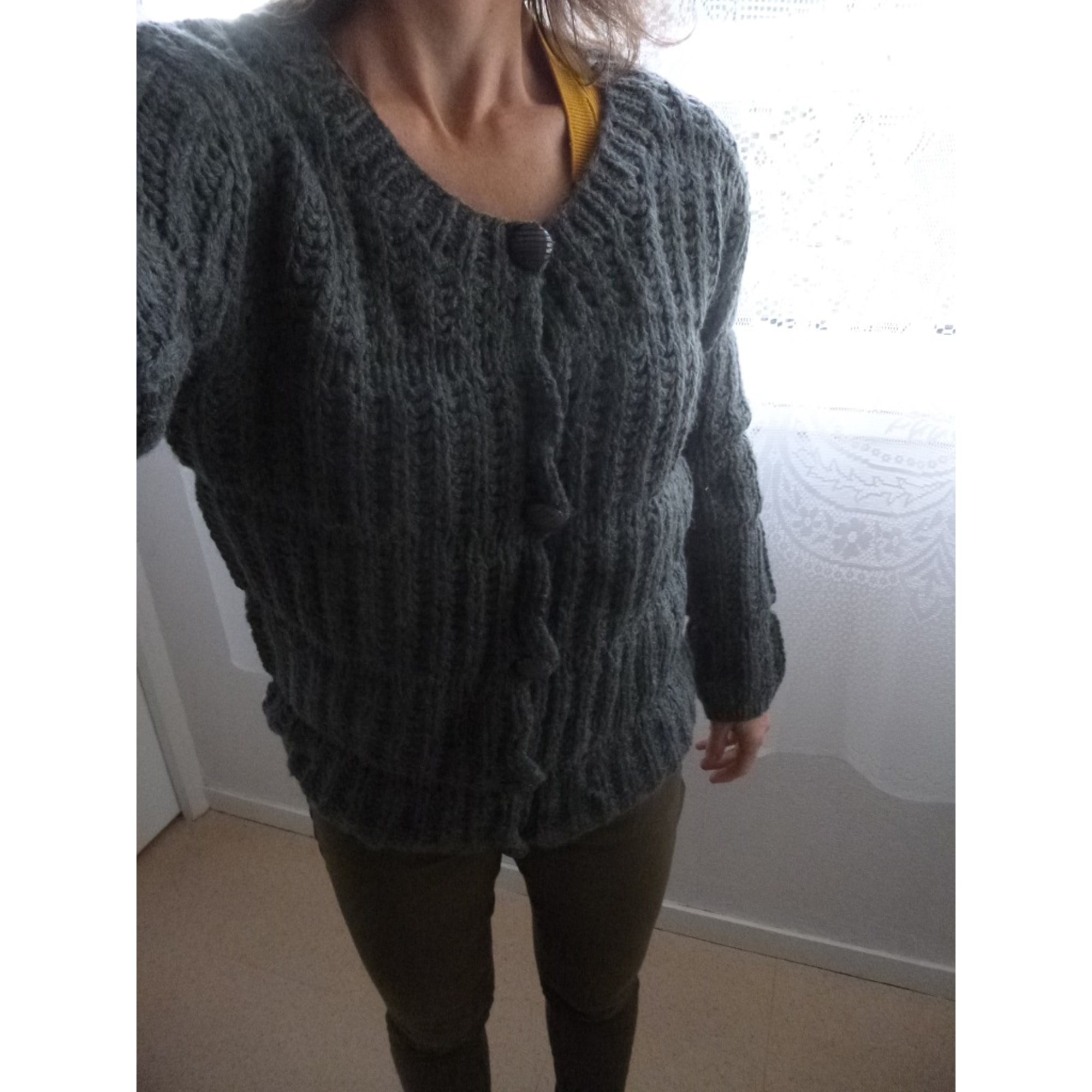 Gilet, cardigan GEORGES RECH Gris, anthracite