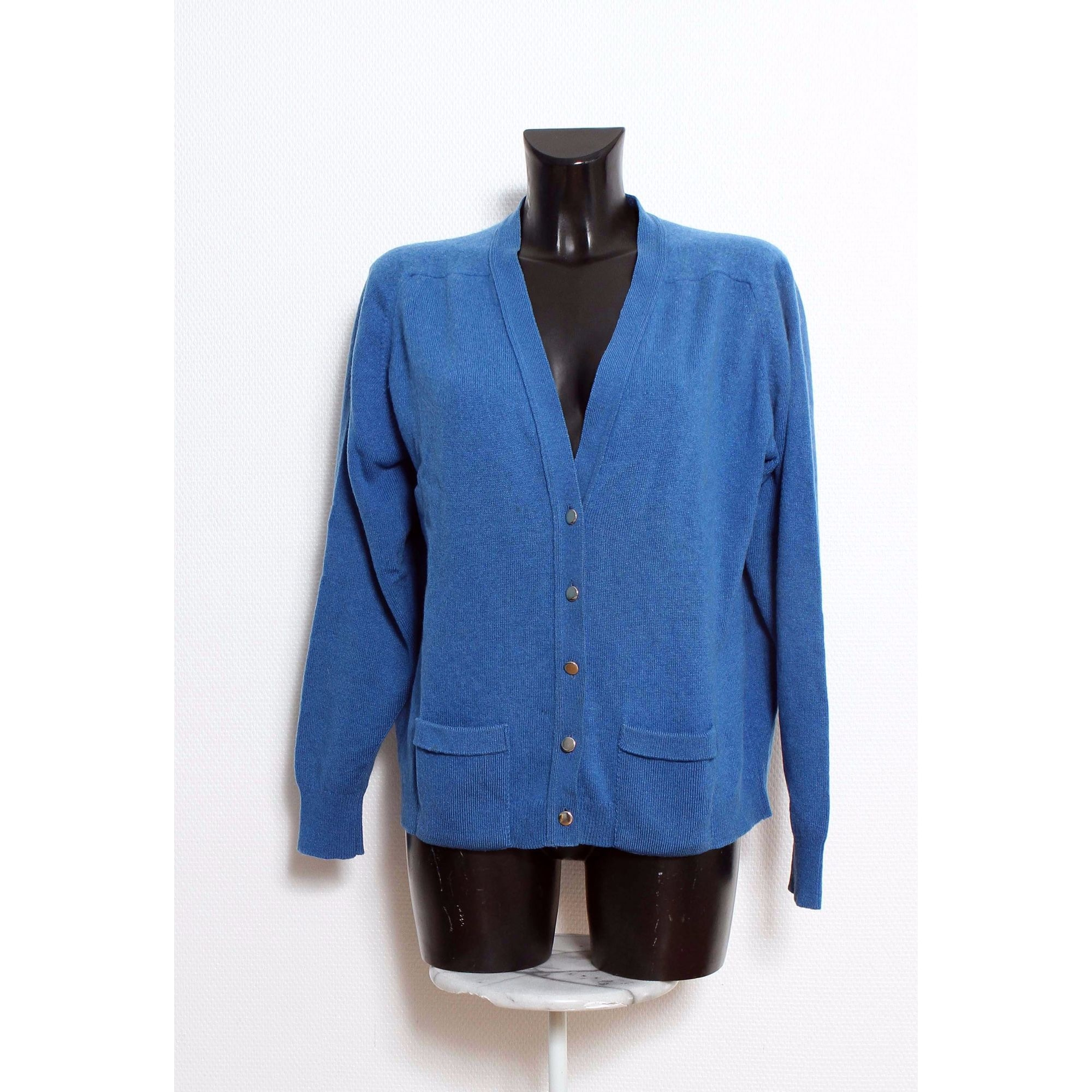 Gilet, cardigan HODGSON SCOTLAND Bleu, bleu marine, bleu turquoise