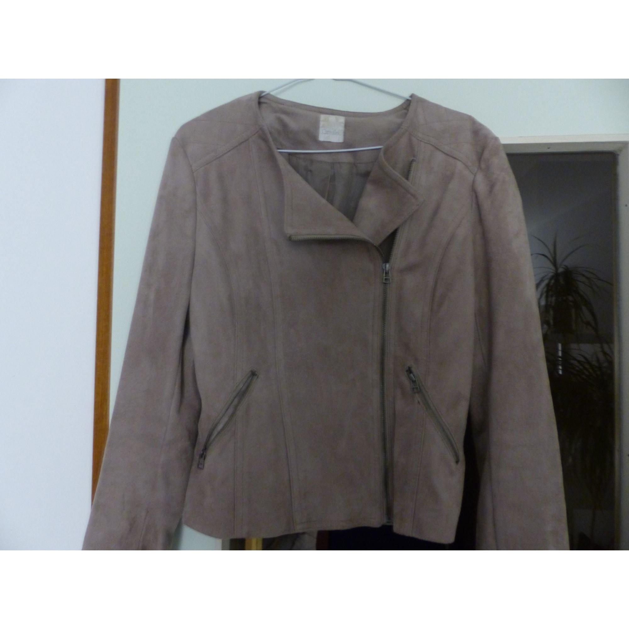 Blazer, veste tailleur CAMAIEU Beige, camel