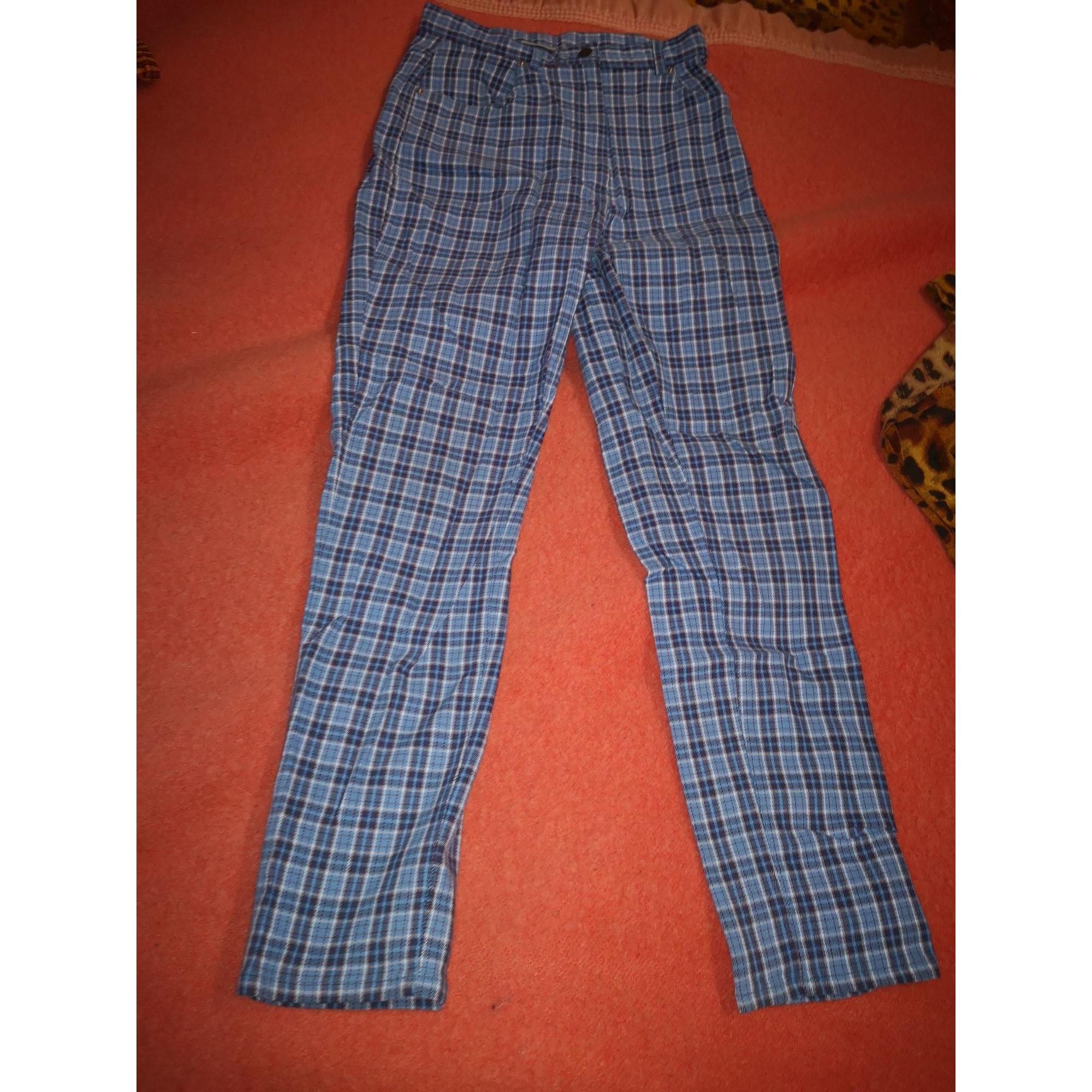 Pantalon slim, cigarette CAMAIEU Bleu, bleu marine, bleu turquoise