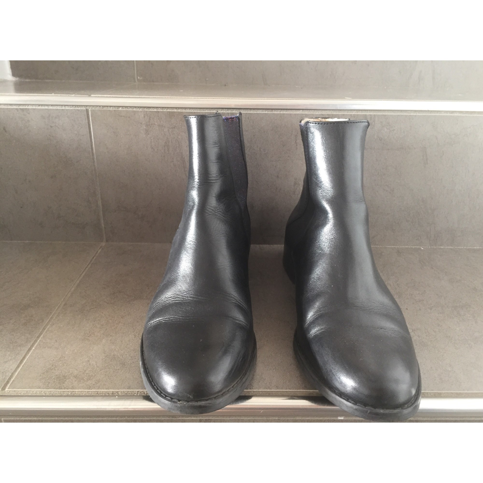 Bottines & low boots plates MELLOW YELLOW Noir