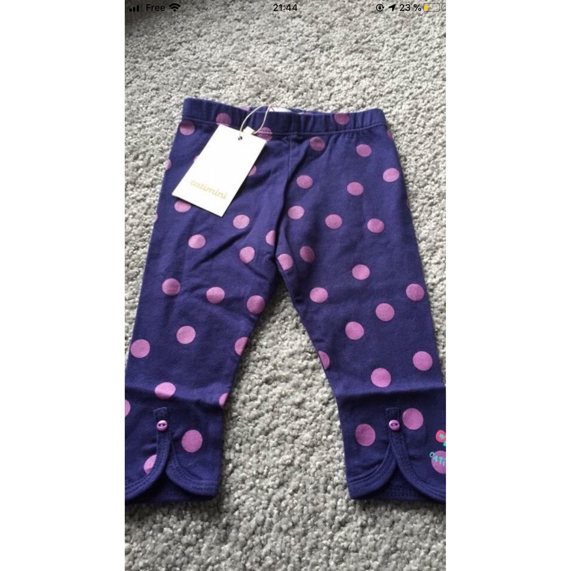 Pantalon CATIMINI Violet, mauve, lavande