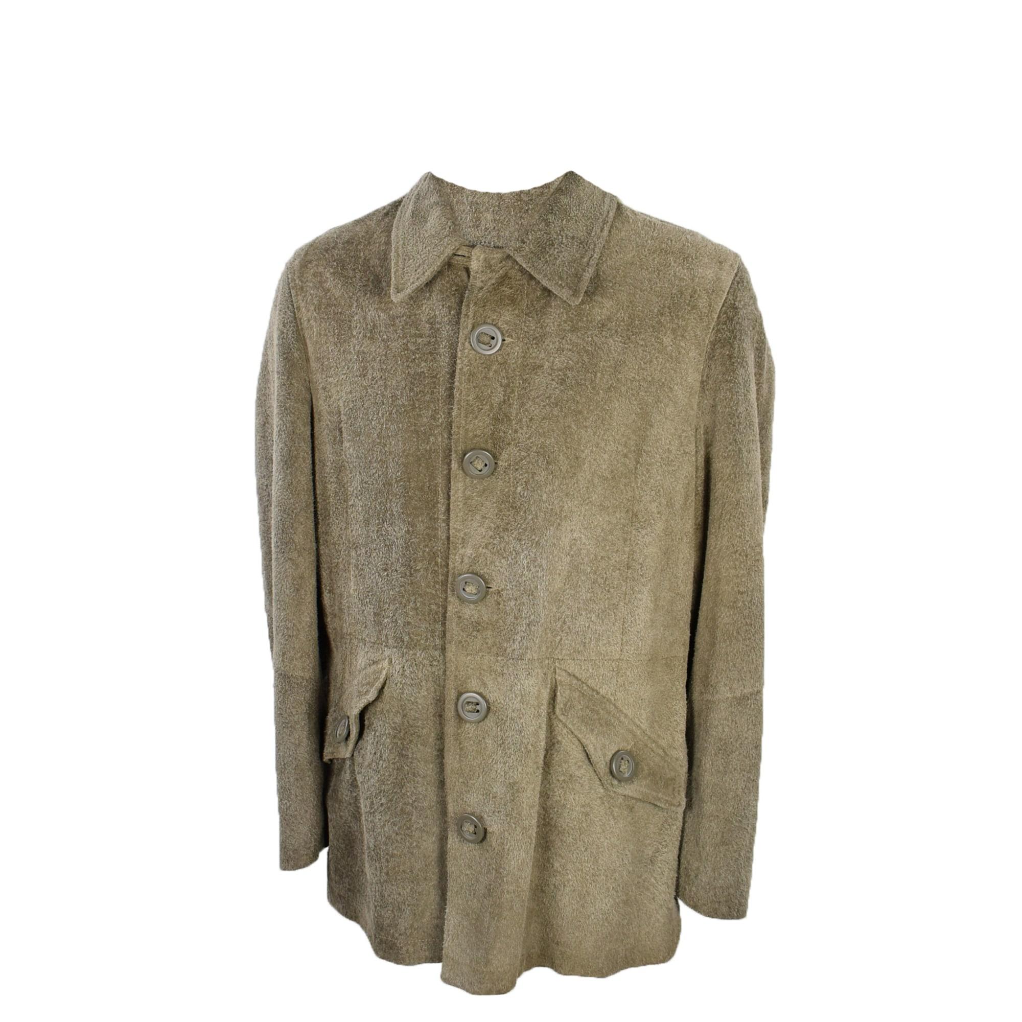 Manteau en cuir ARMANI JEANS Beige, camel
