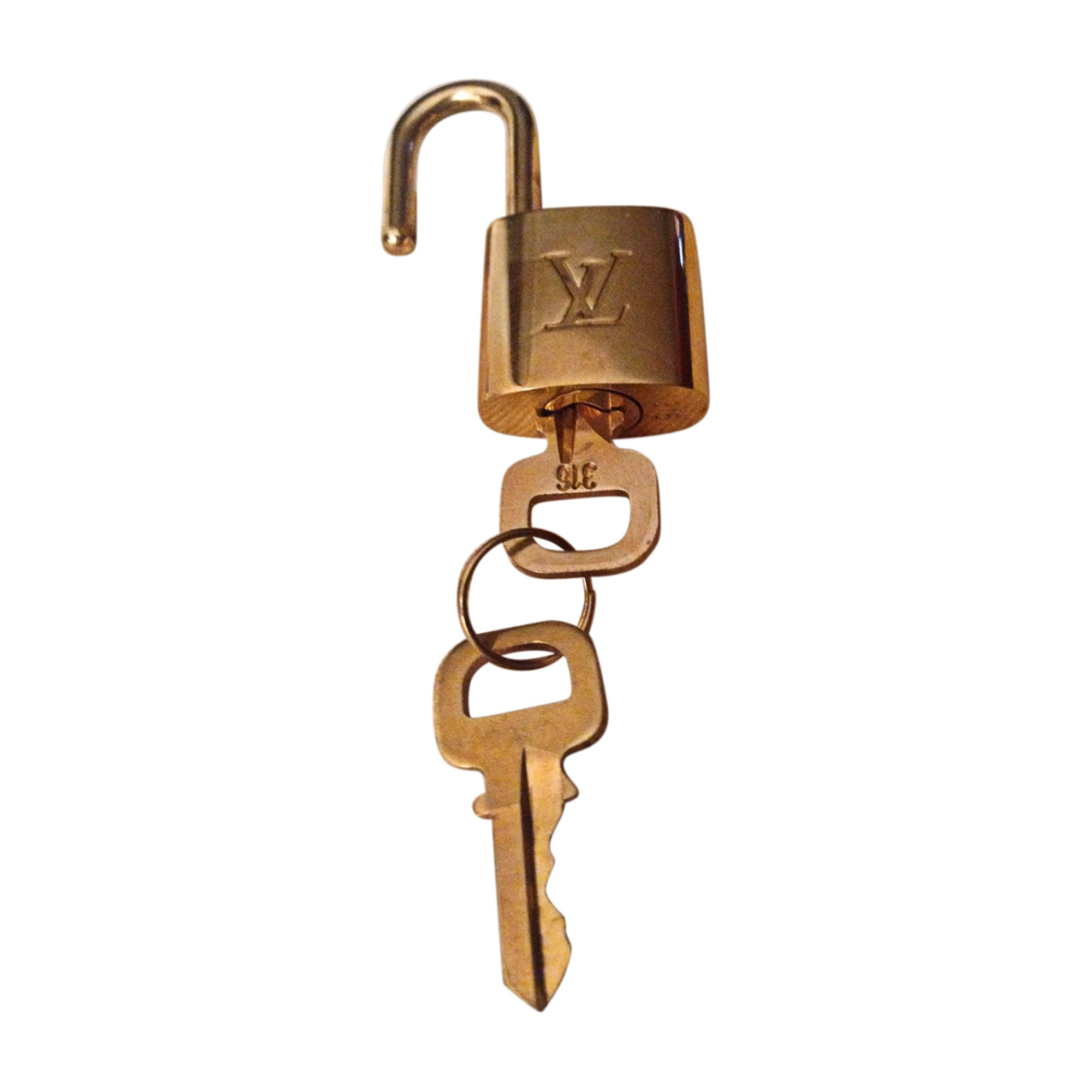 Bijou de téléphone LOUIS VUITTON Doré, bronze, cuivre