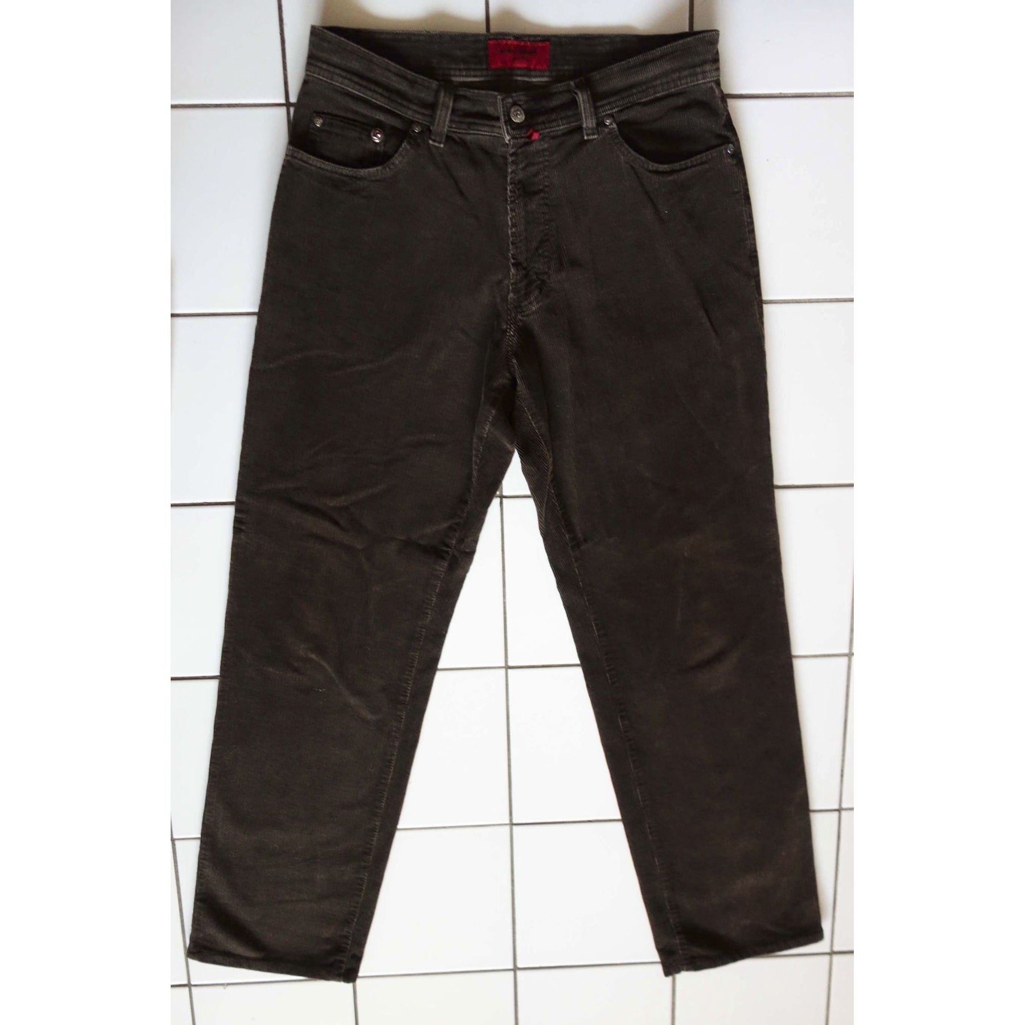 Jeans large PIERRE CARDIN Marron