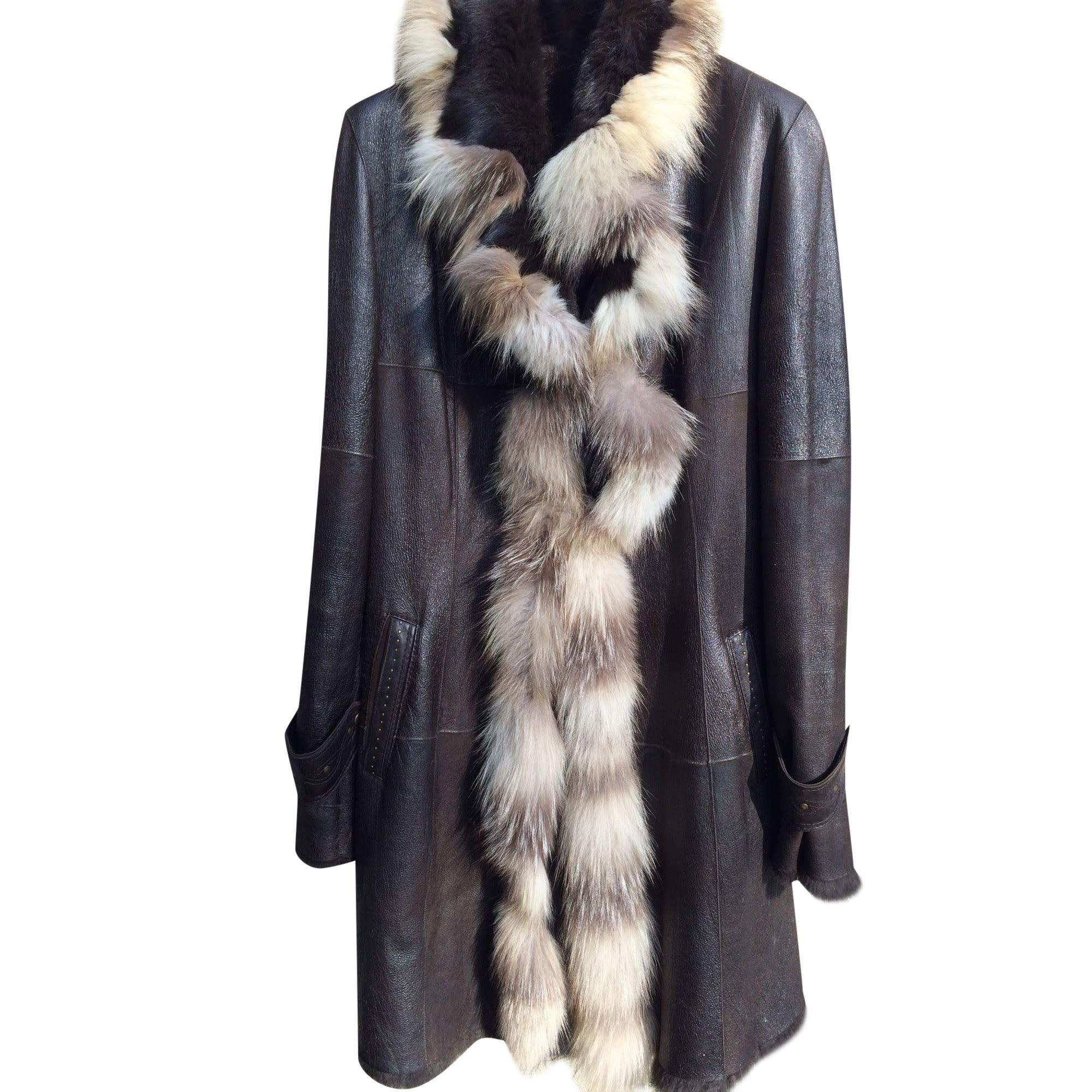 Manteau en fourrure GIORGIO Marron
