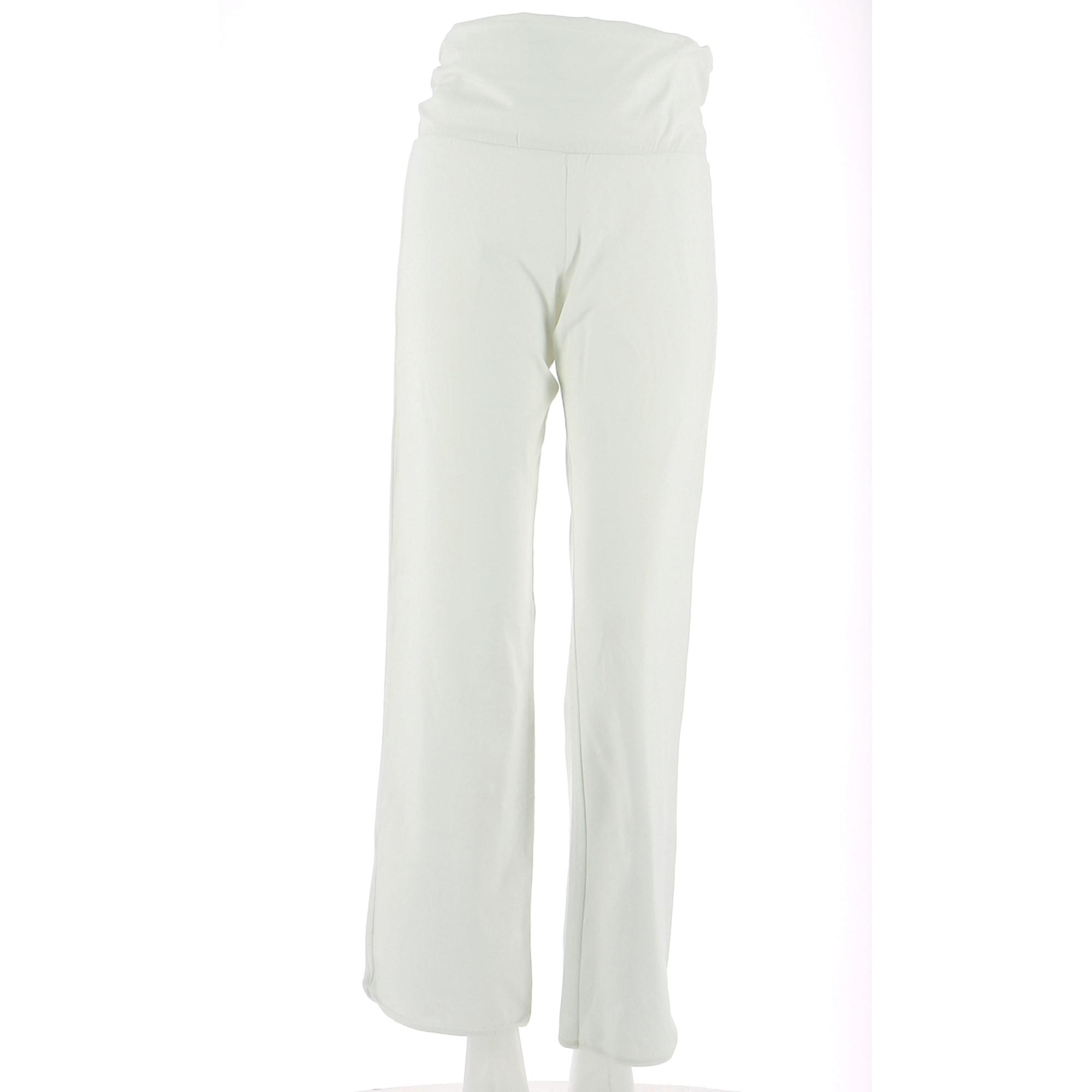 Pantalon droit PETIT BATEAU Blanc, blanc cassé, écru