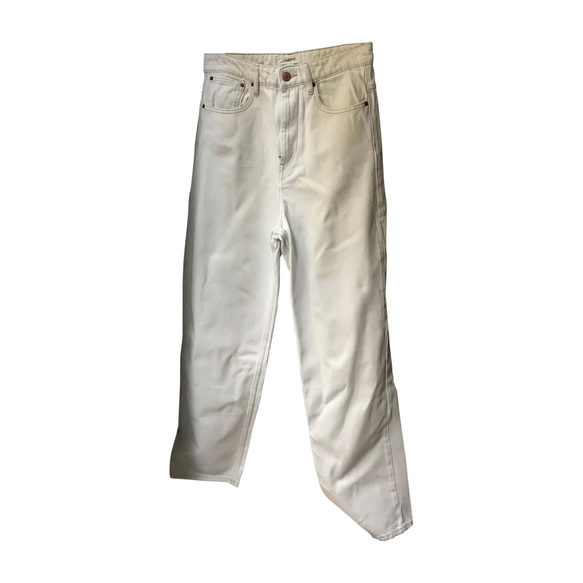 Pantalon droit ISABEL MARANT ETOILE Blanc, blanc cassé, écru