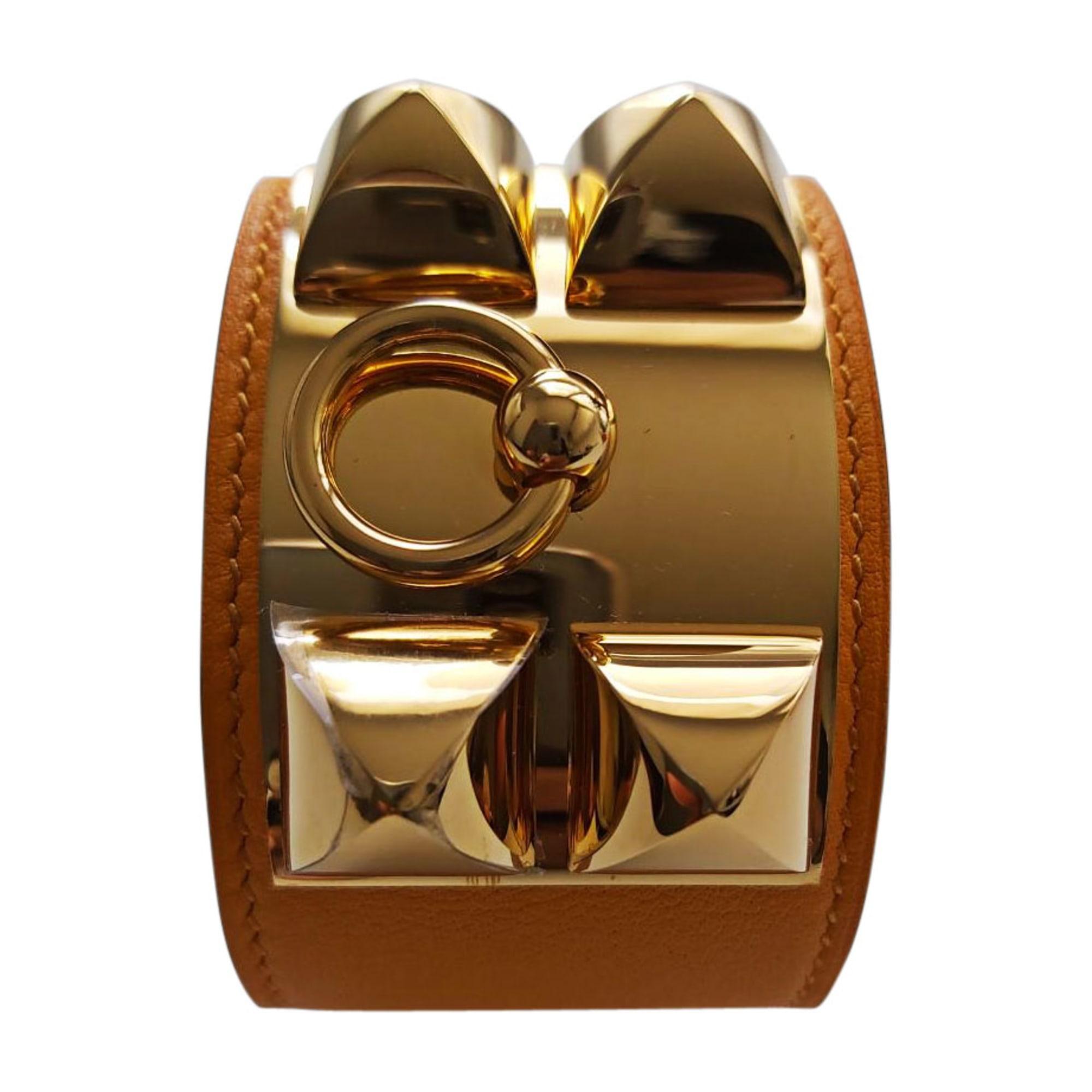 Bracelet HERMÈS Collier de Chien Doré, bronze, cuivre