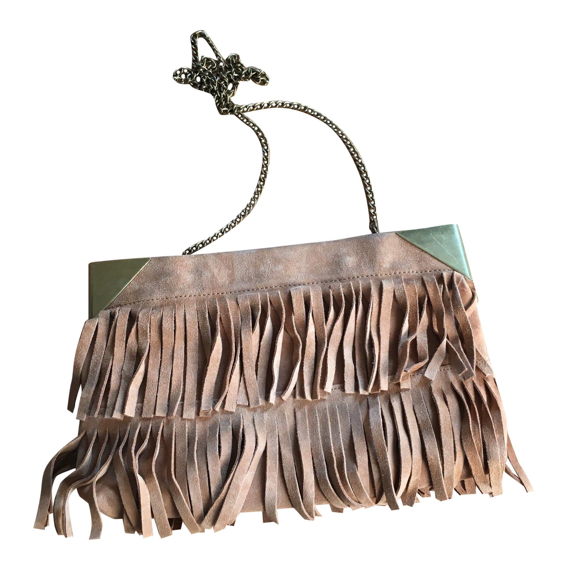 Sac en bandoulière en cuir NAT & NIN Beige, camel
