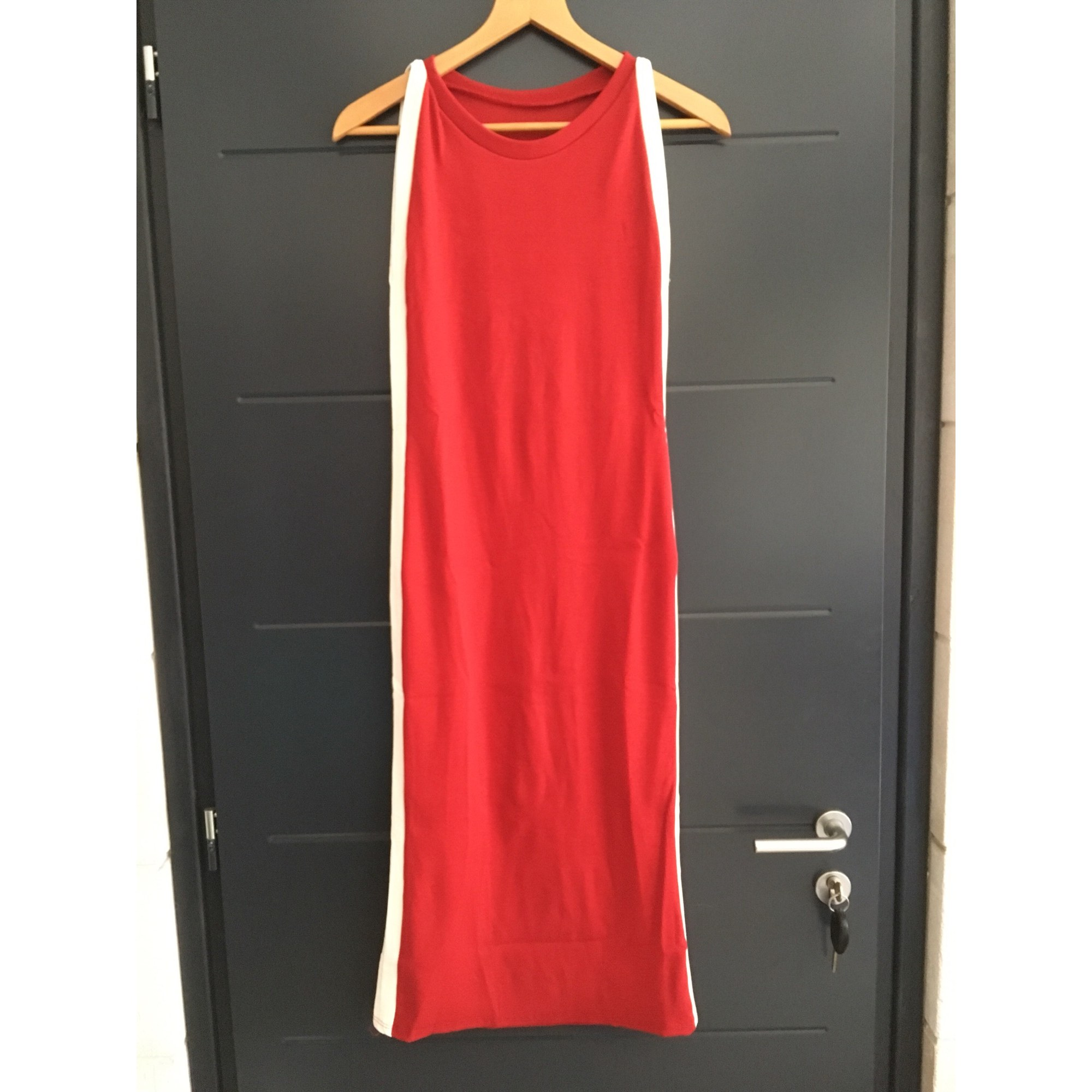 Robe mi-longue MARQUE INCONNUE Rouge, bordeaux