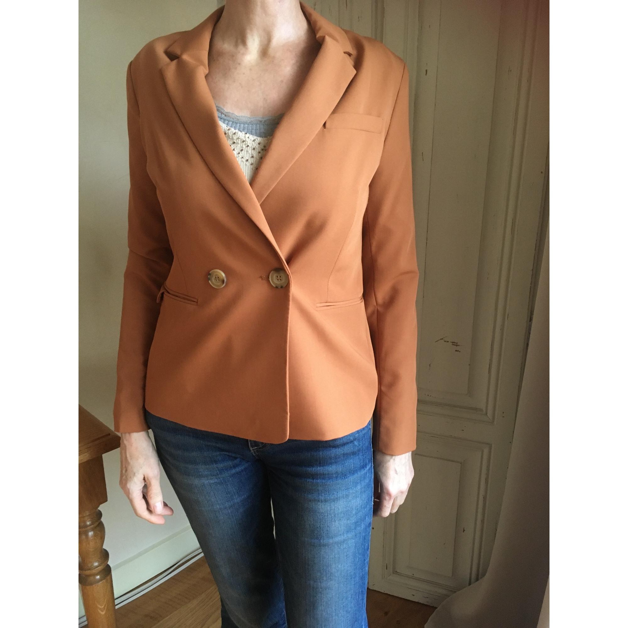 Blazer, veste tailleur BERSHKA Orange