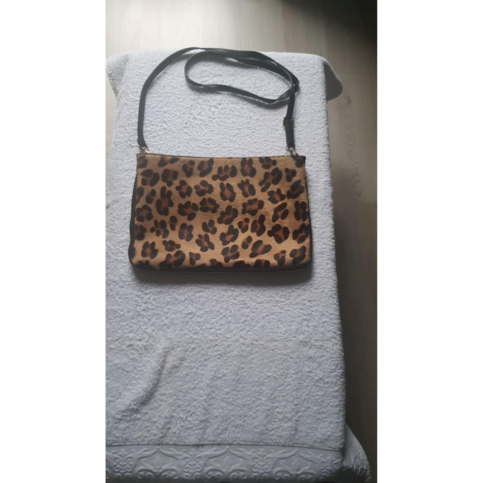 Handtasche Leder MADE IN ITALIE Tierprint