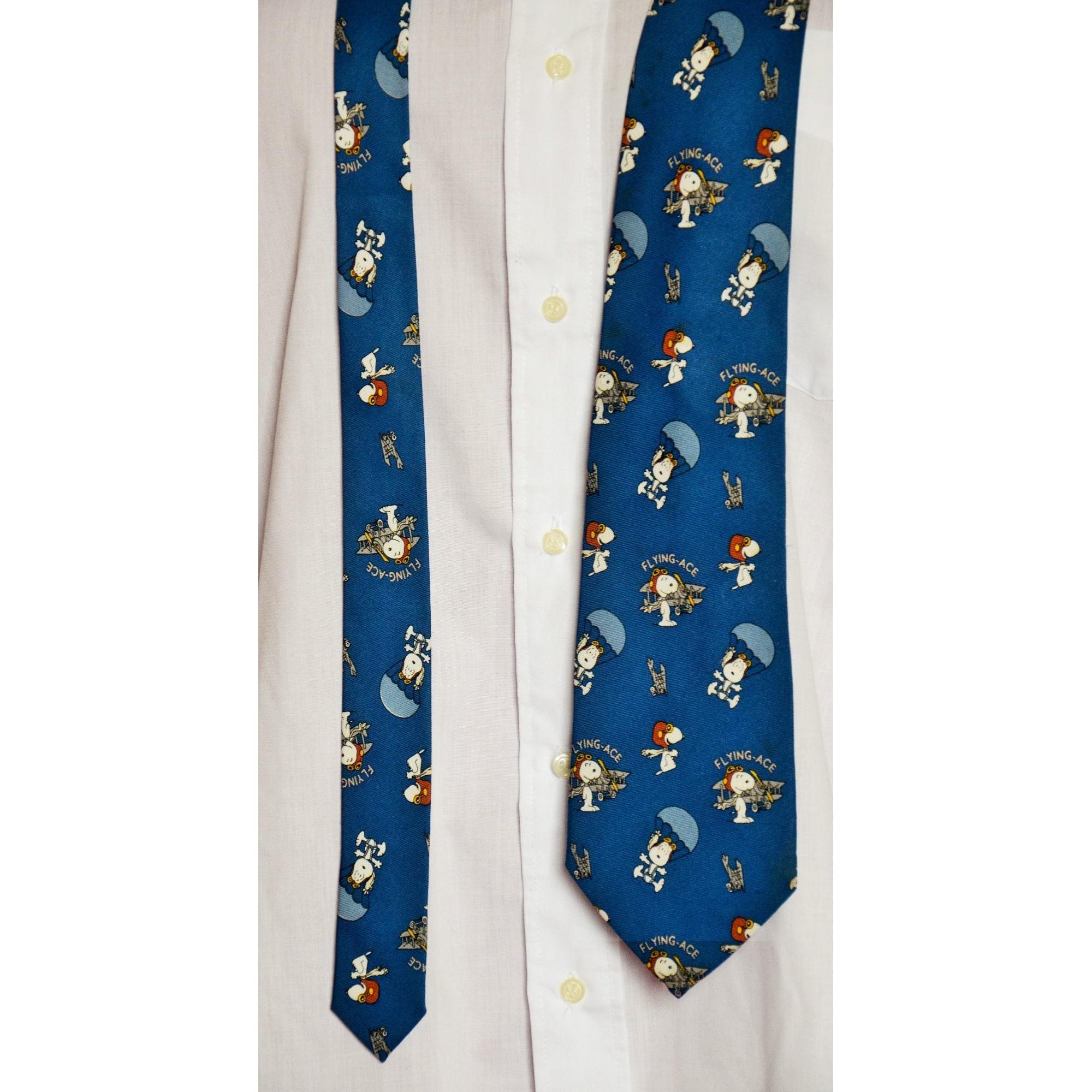 Cravate SNOOPY Bleu, bleu marine, bleu turquoise