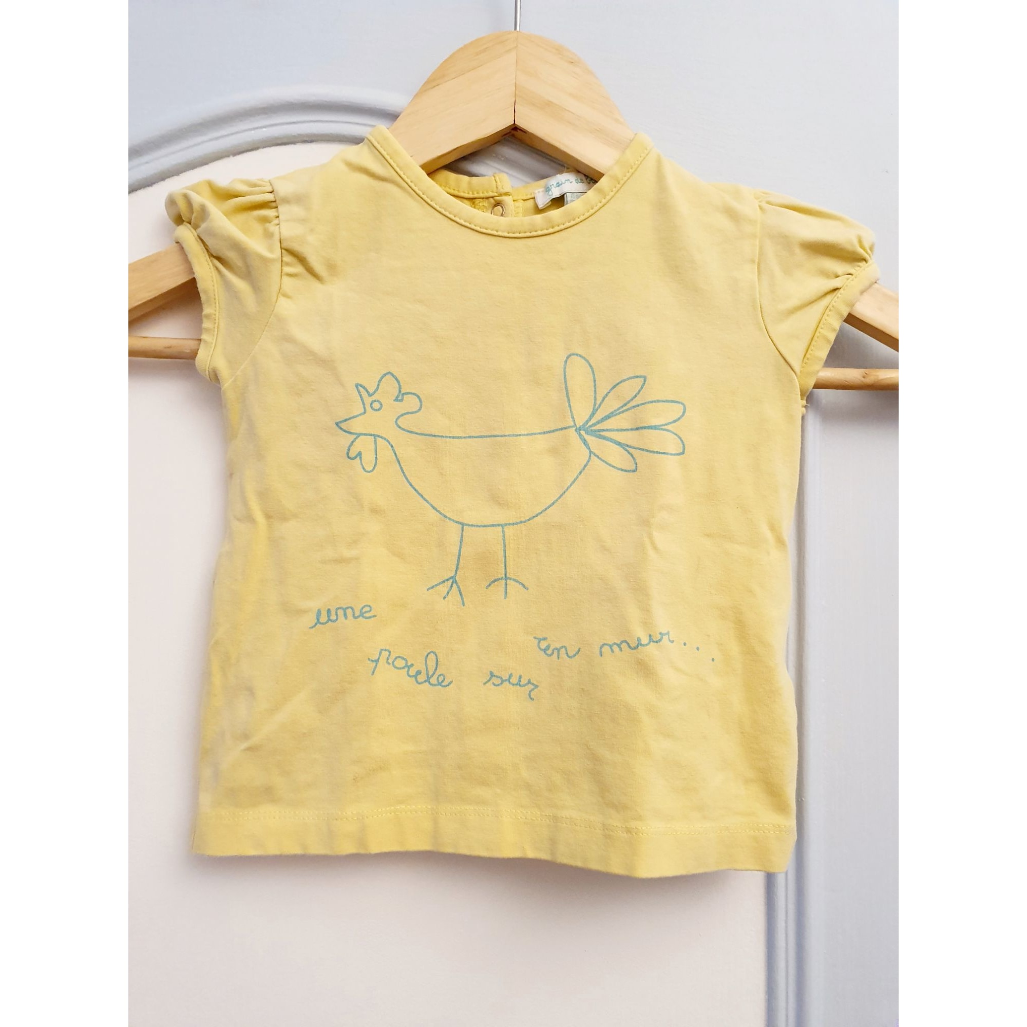 Top, tee shirt GRAIN DE BLÉ Jaune