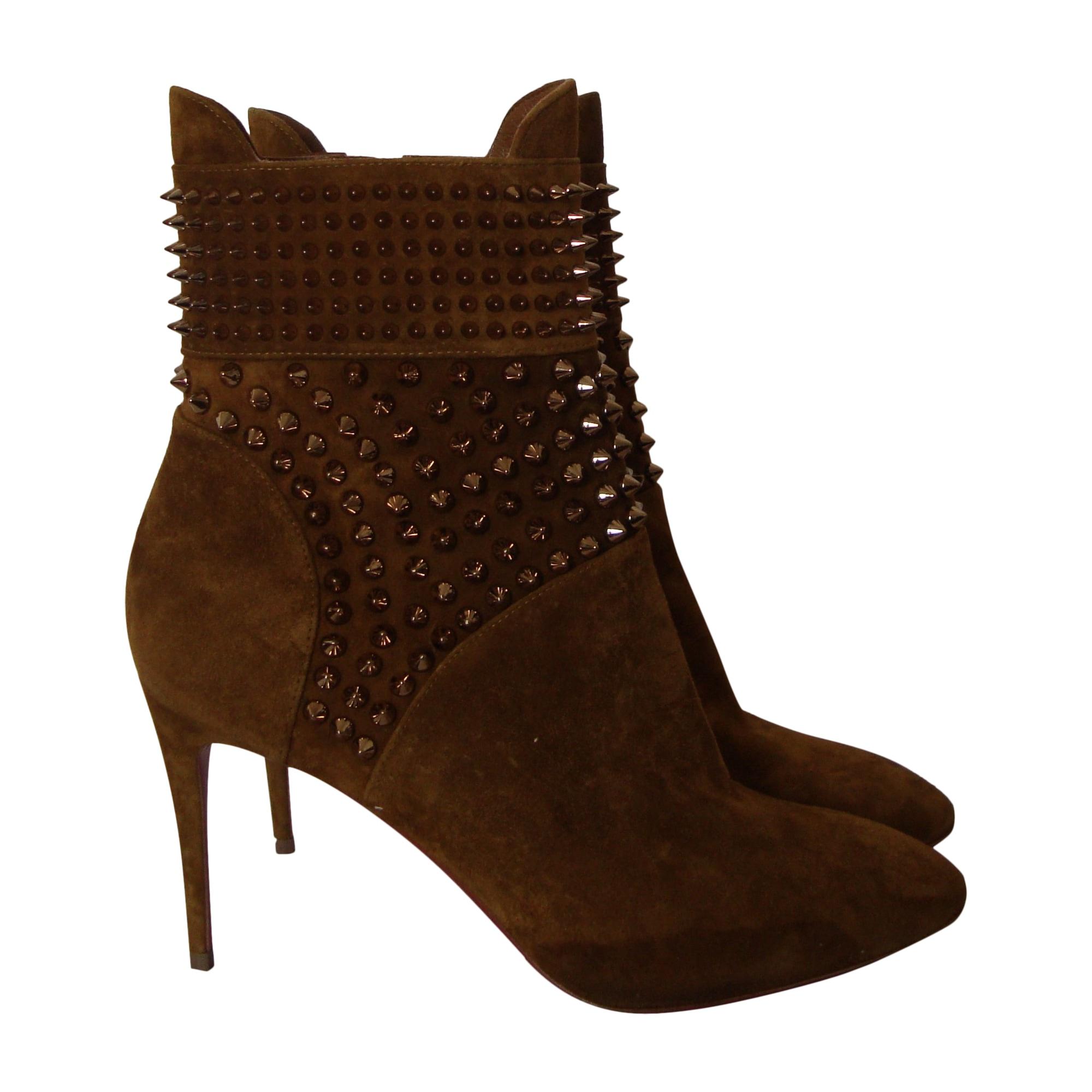 Bottines & low boots à talons CHRISTIAN LOUBOUTIN Beige, camel