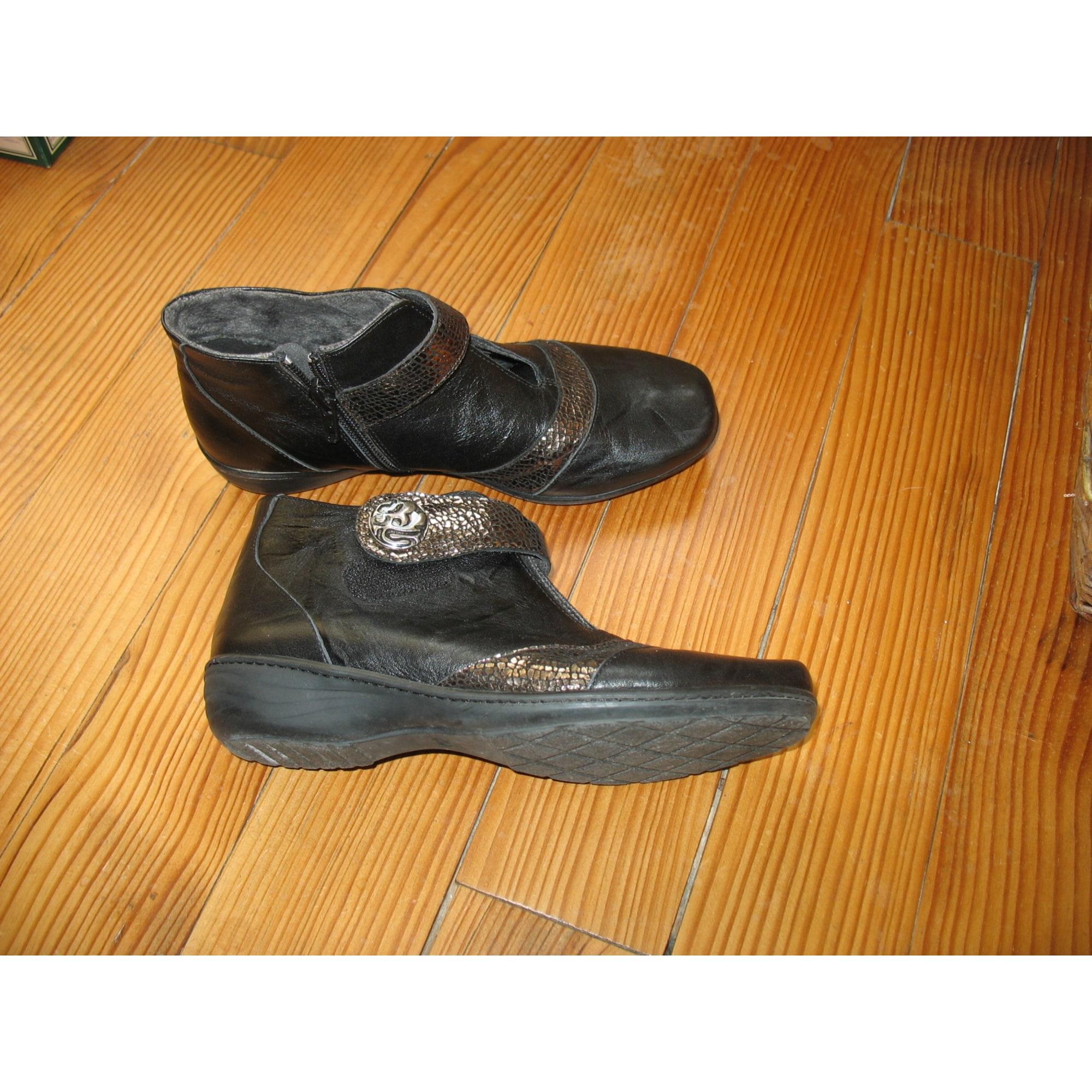 Bottines & low boots plates GEO REINO Marron