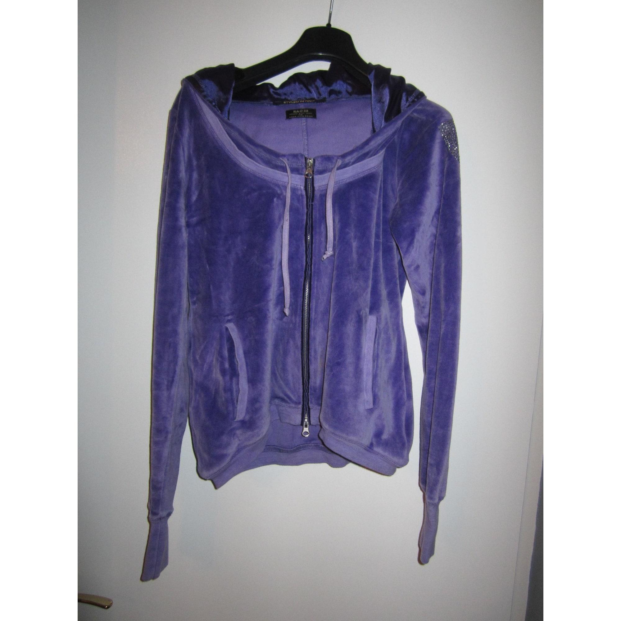 Gilet, cardigan RA-RE Violet, mauve, lavande