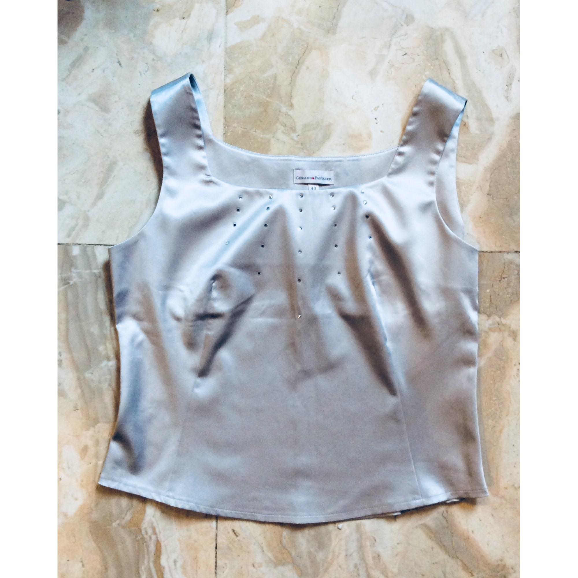 Top, tee-shirt GÉRARD PASQUIER Argenté, acier