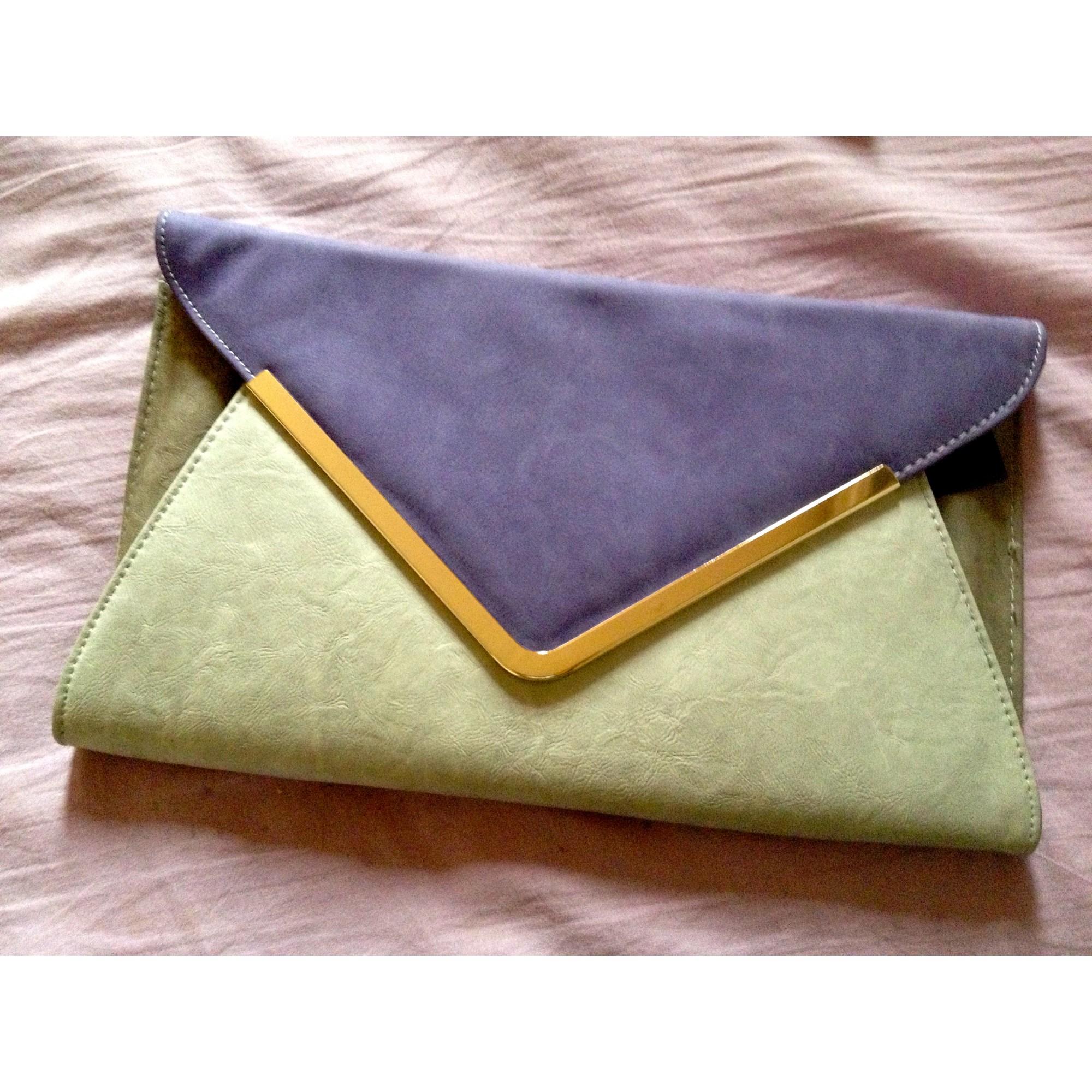Sac pochette en cuir NEW LOOK Violet, mauve, lavande