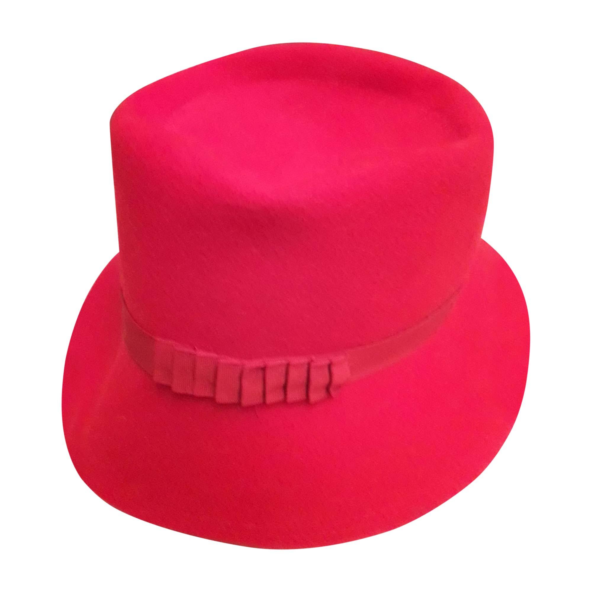 Chapeau BORSALINO Rouge, bordeaux
