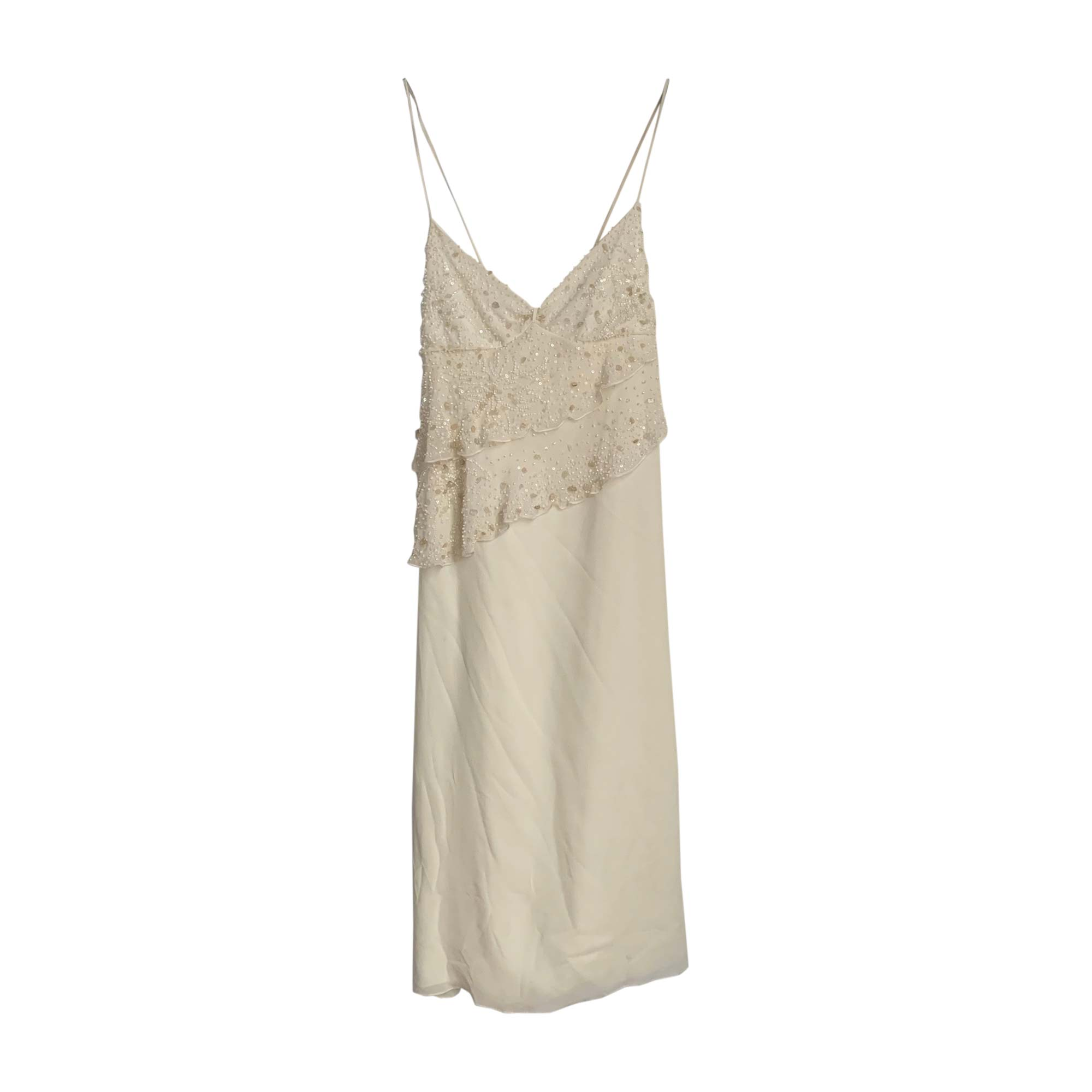 Robe courte VALENTINO Blanc, blanc cassé, écru