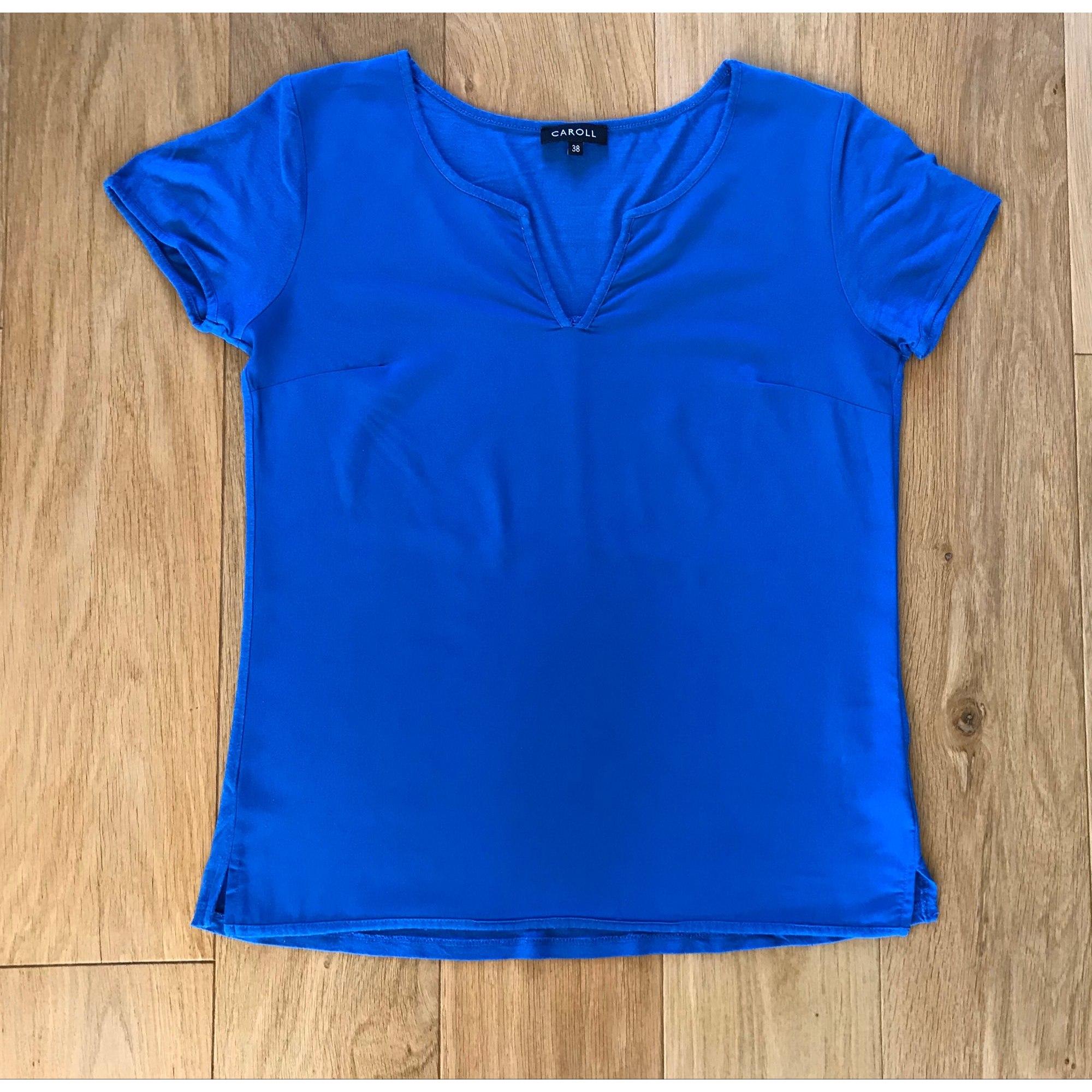 Top, tee-shirt CAROLL Bleu, bleu marine, bleu turquoise