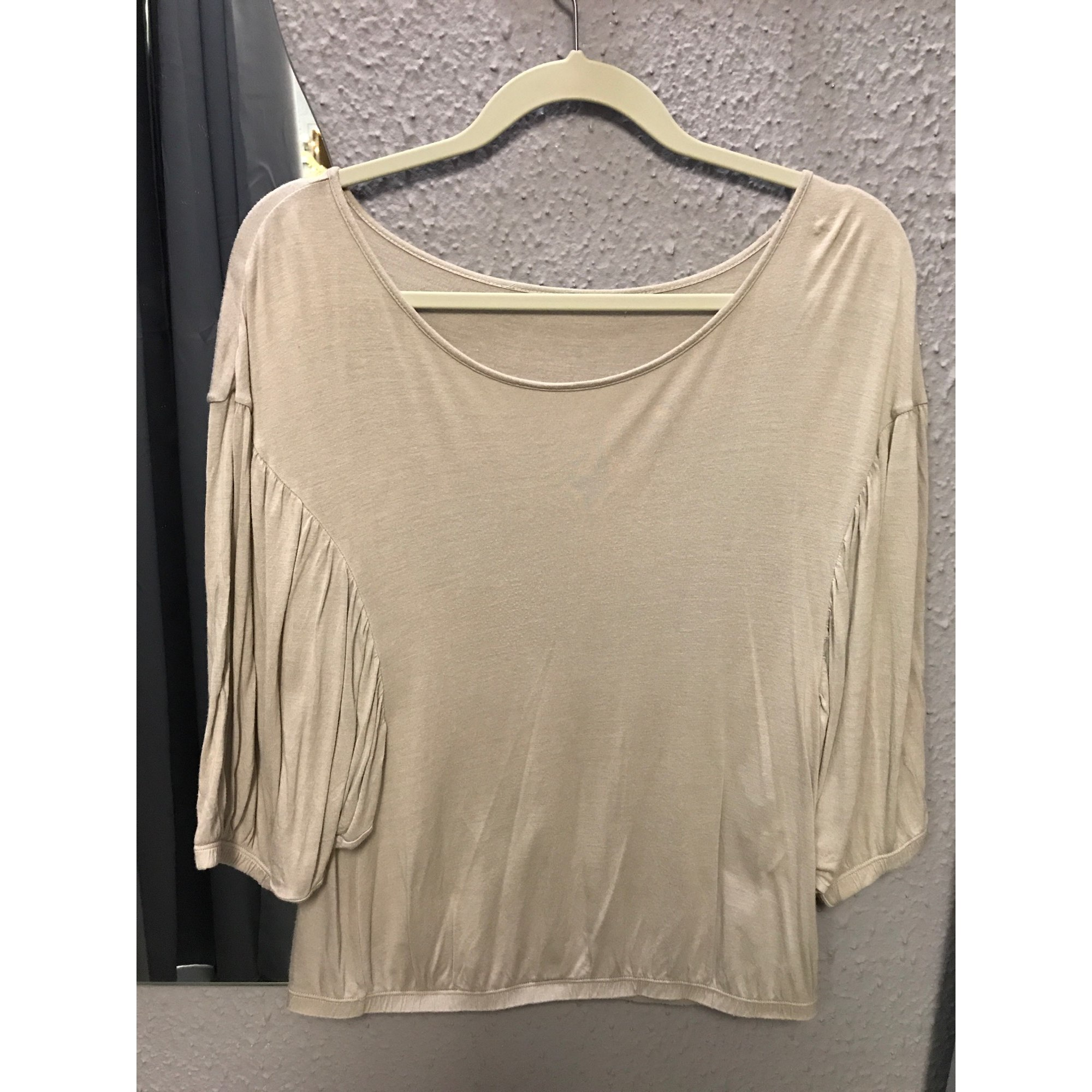 Top, tee-shirt ETAM Beige, camel
