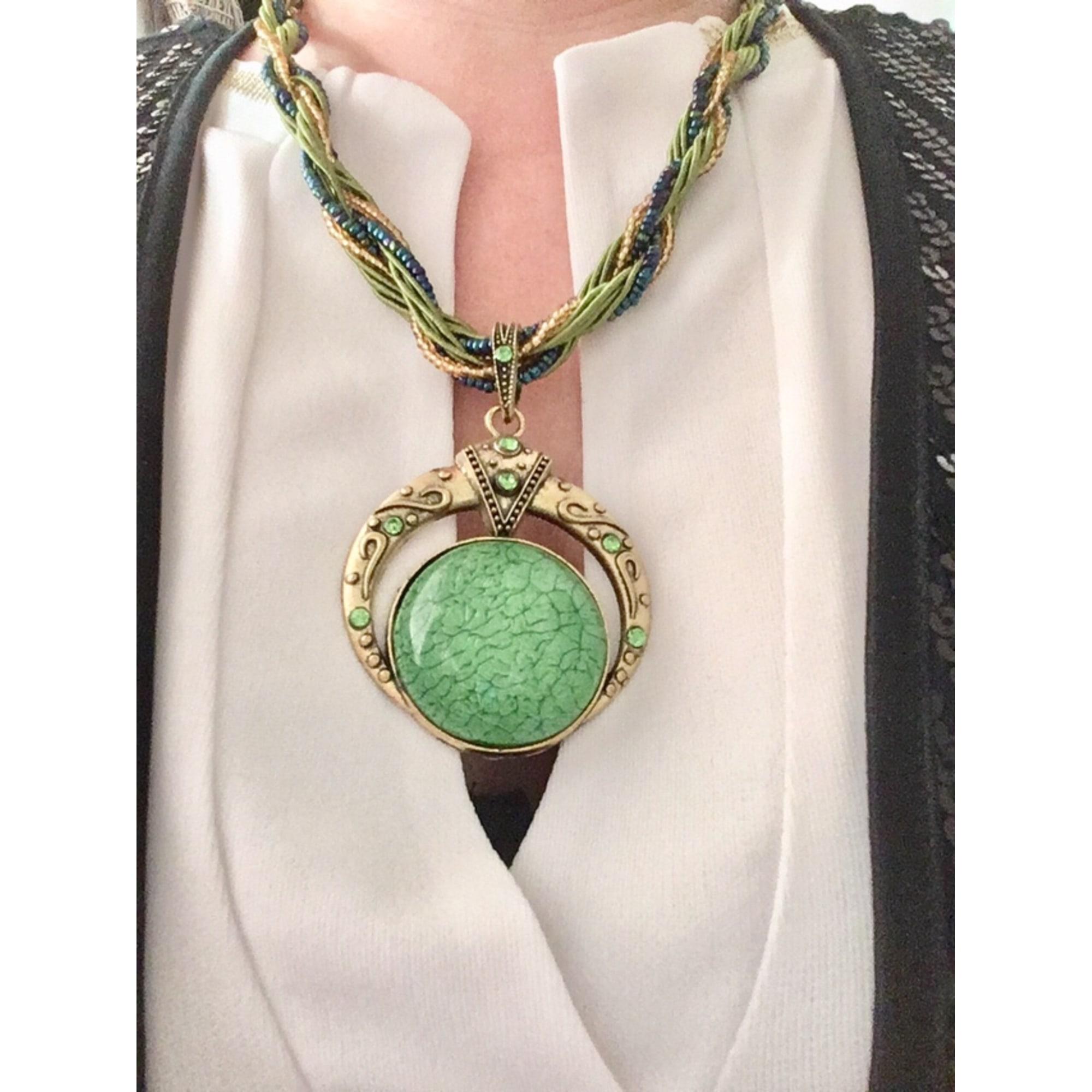 Pendentif, collier pendentif FASHION JEWELRY Vert