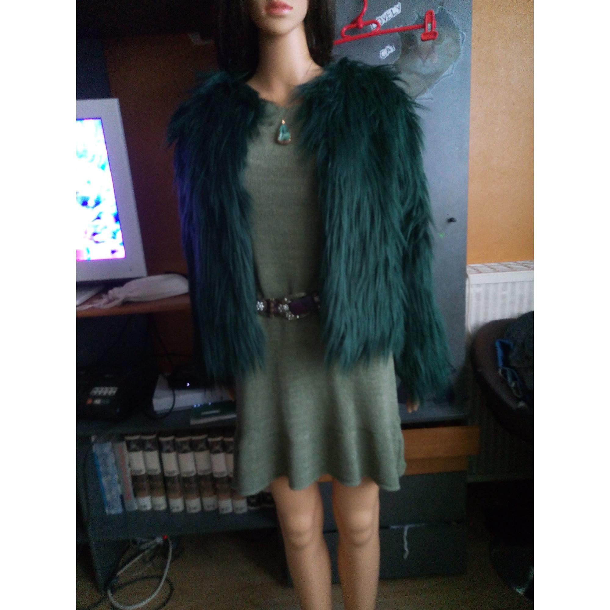 Blouson, veste en fourrure BOUTIQUE INDEPENDANTE Vert