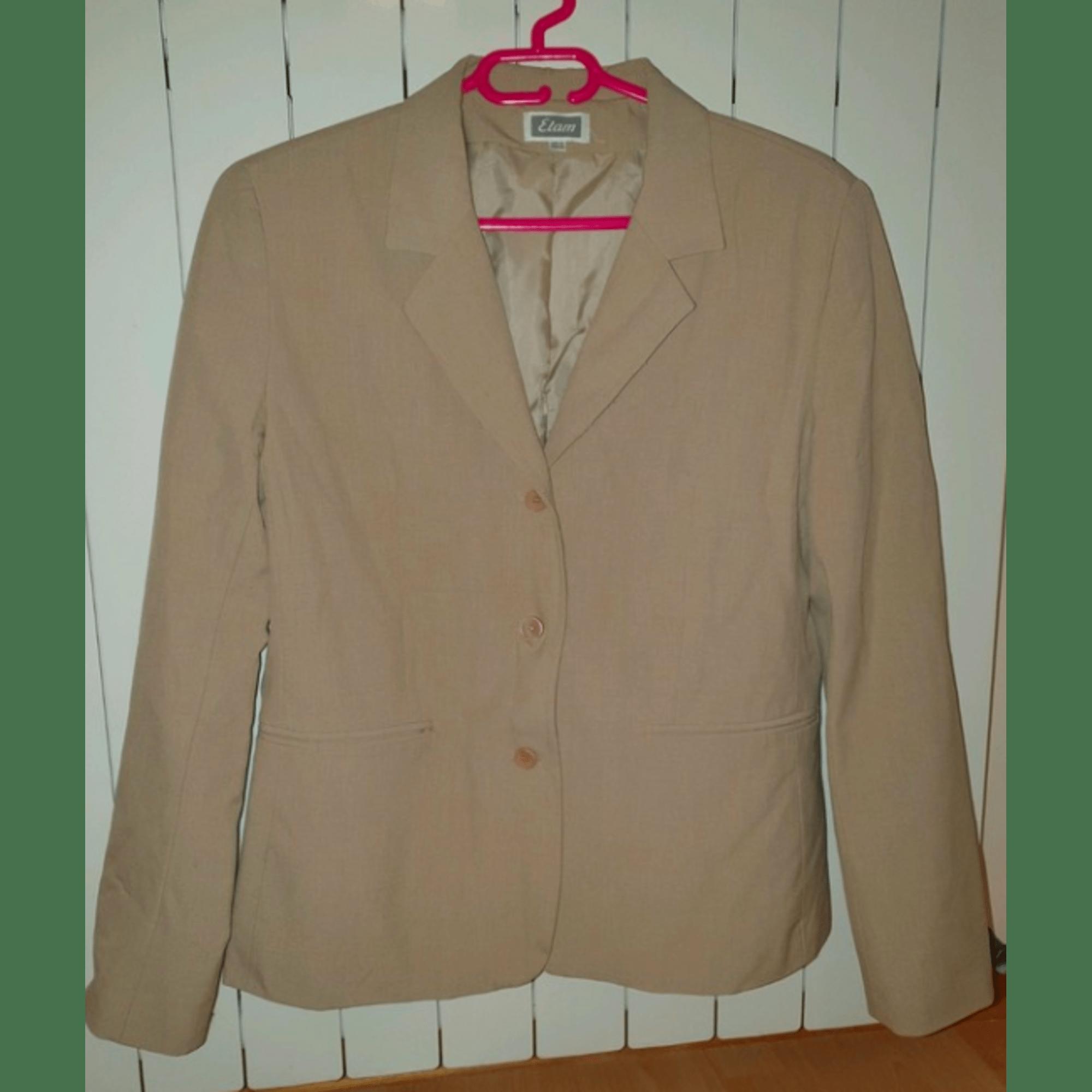 Blazer, veste tailleur ETAM Beige, camel