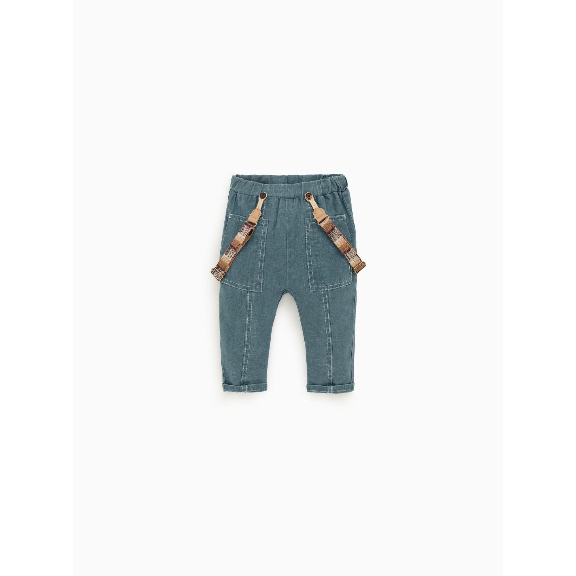 Pantalon ZARA Bleu, bleu marine, bleu turquoise