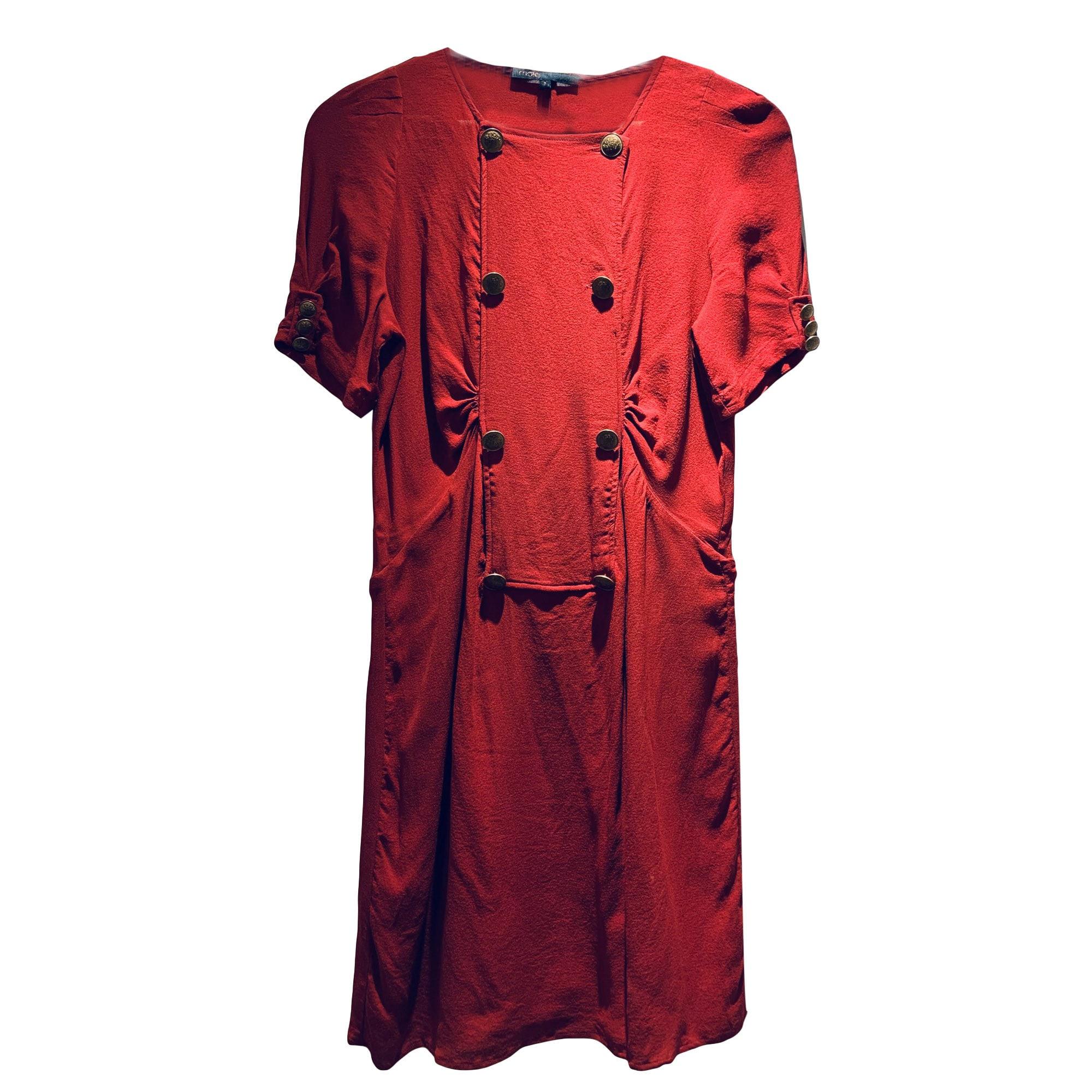 Robe courte MAJE Rouge, bordeaux