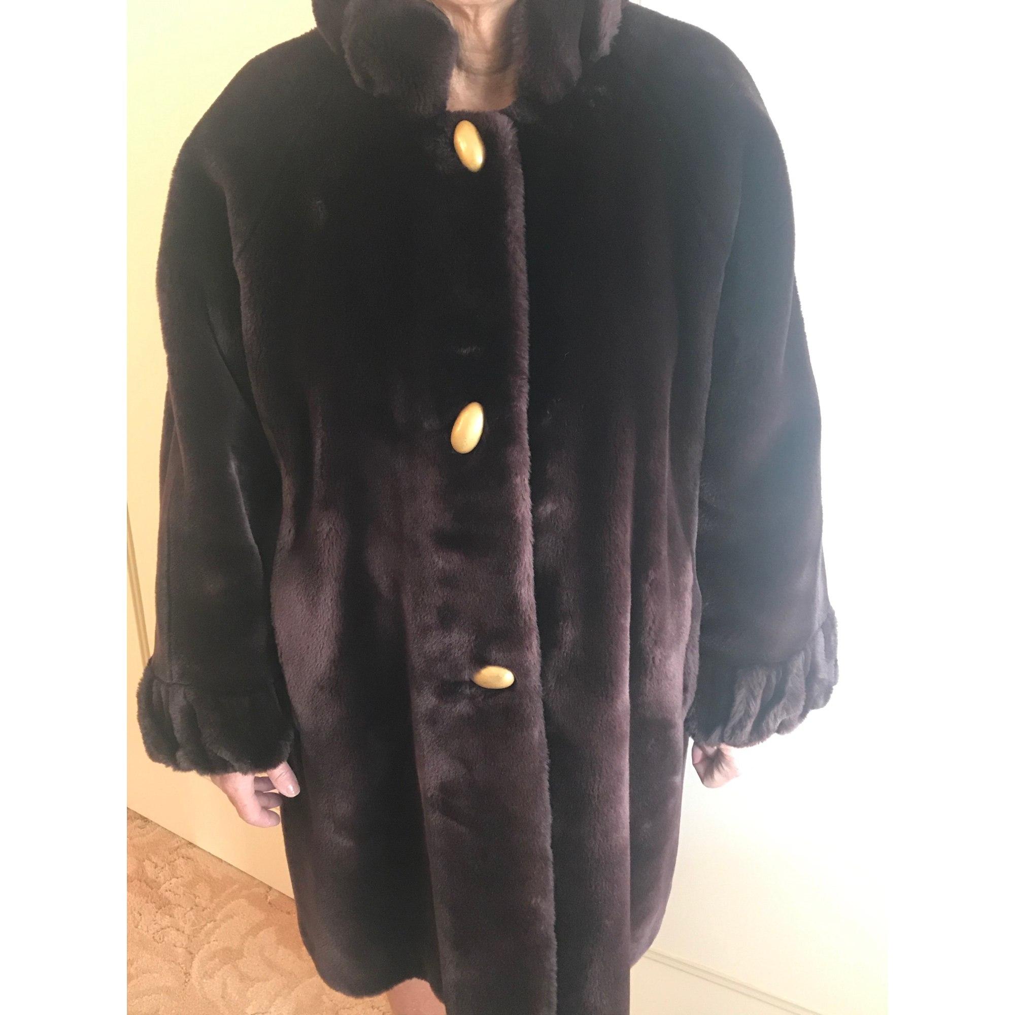 Manteau en fourrure LORENZI Marron
