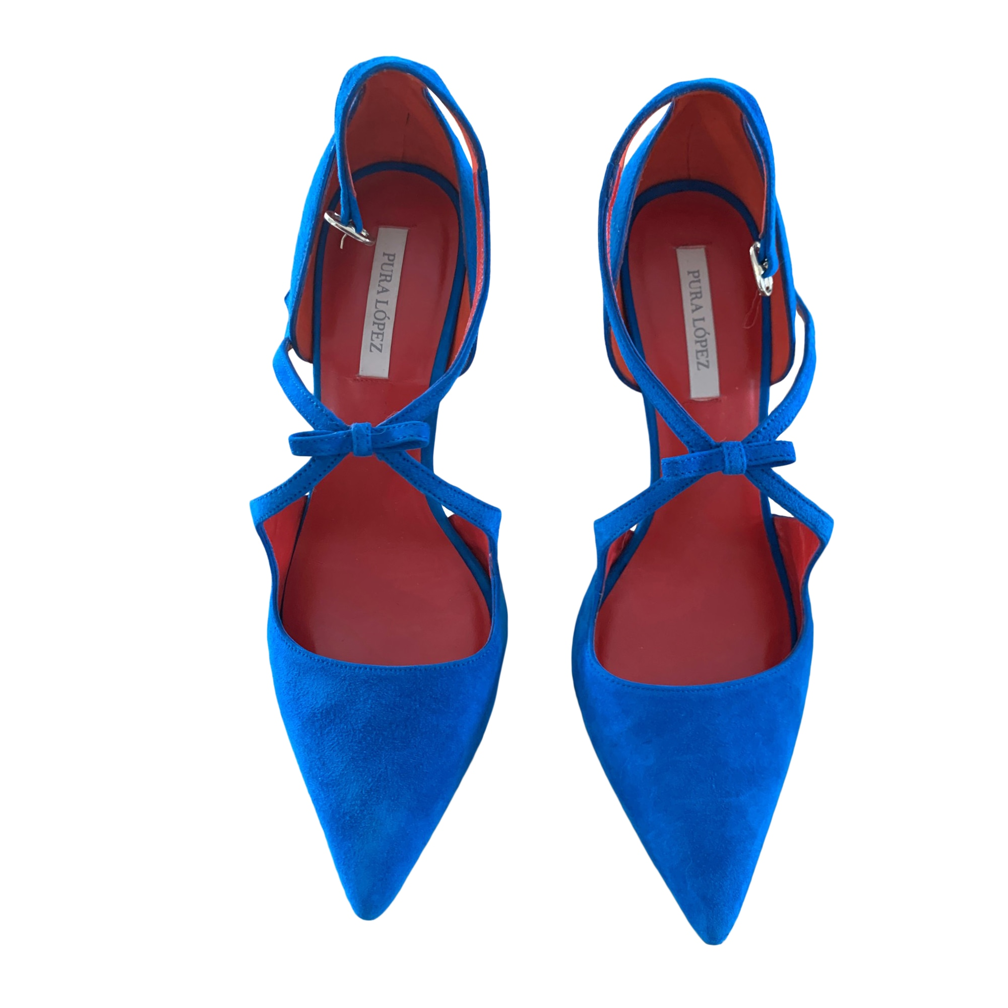 Escarpins PURA LOPEZ Bleu, bleu marine, bleu turquoise