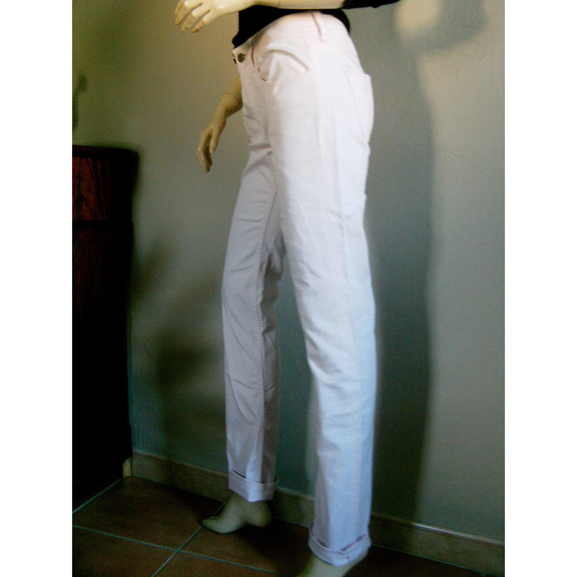Jeans droit BURBERRY Blanc, blanc cassé, écru