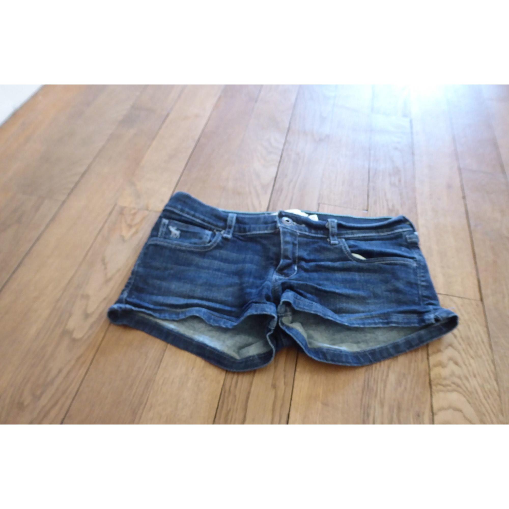 Short en jean ABERCROMBIE & FITCH Bleu, bleu marine, bleu turquoise